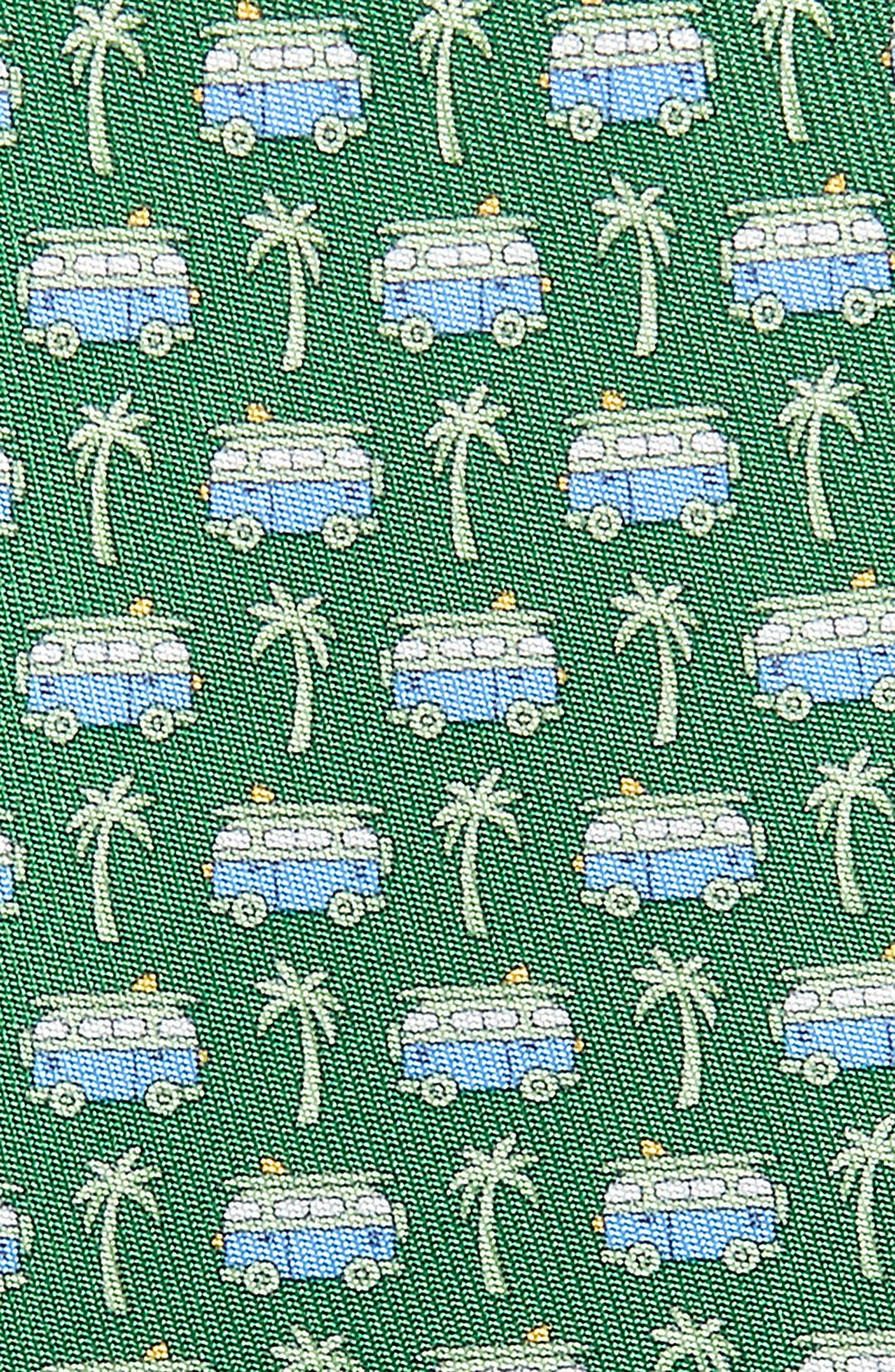 Bus Silk Tie,                             Alternate thumbnail 2, color,                             VERDE