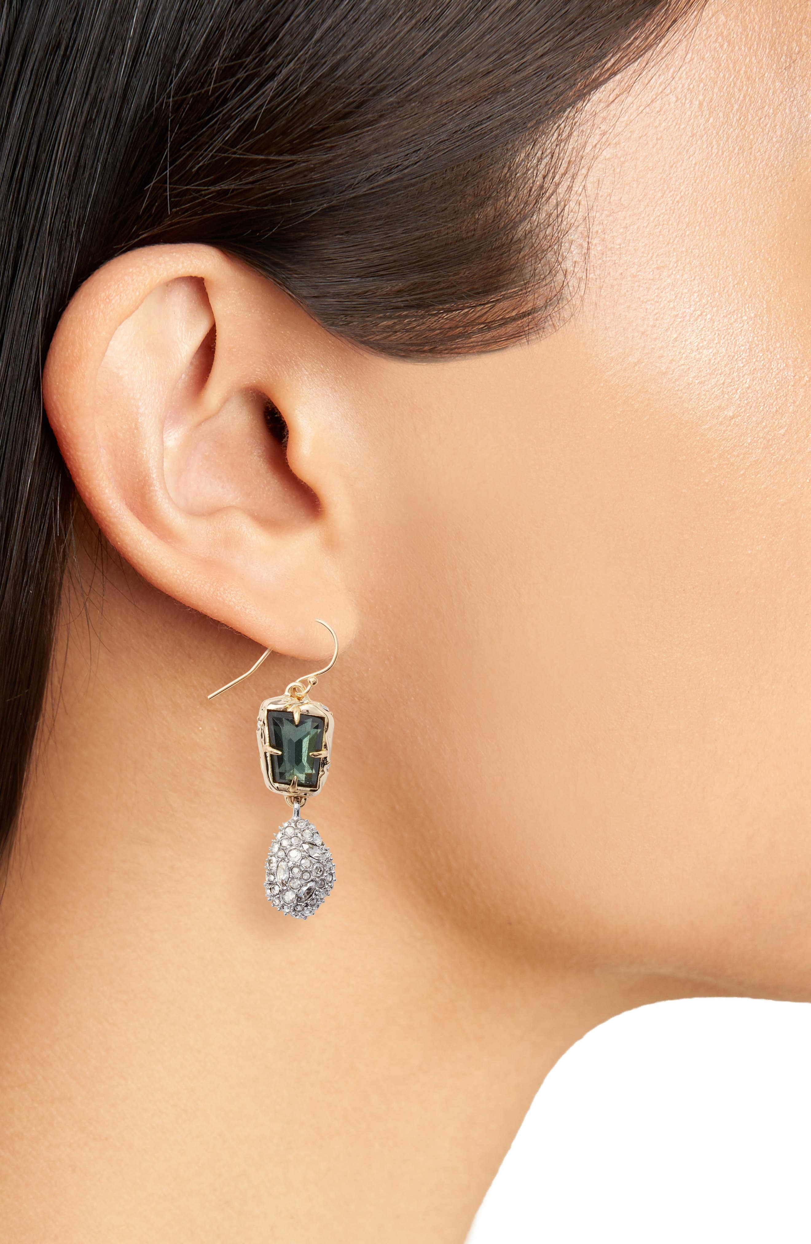 Elements Crystal Drop Earrings,                             Alternate thumbnail 2, color,                             710