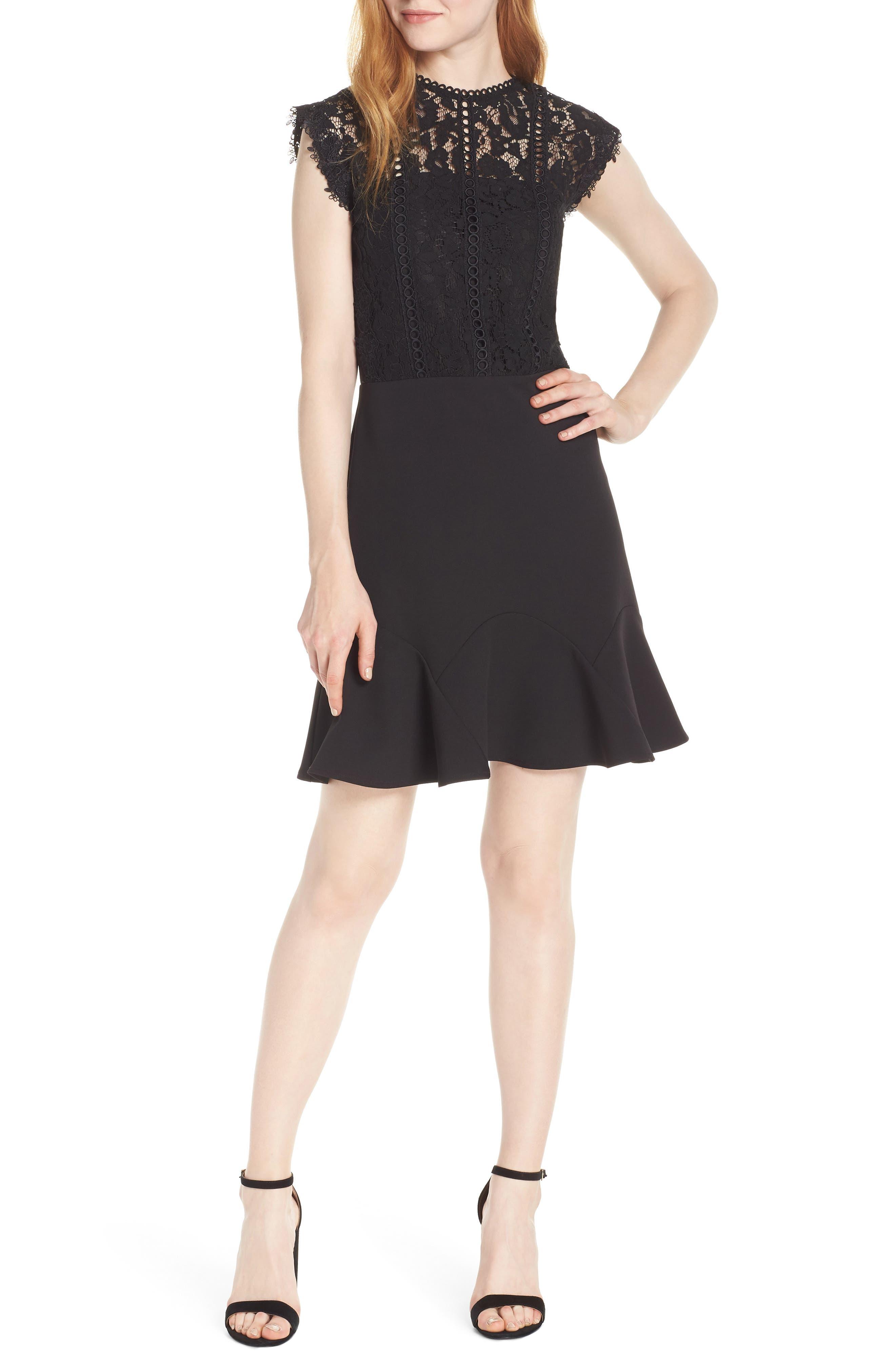 Hadley Fit & Flare Dress in Black
