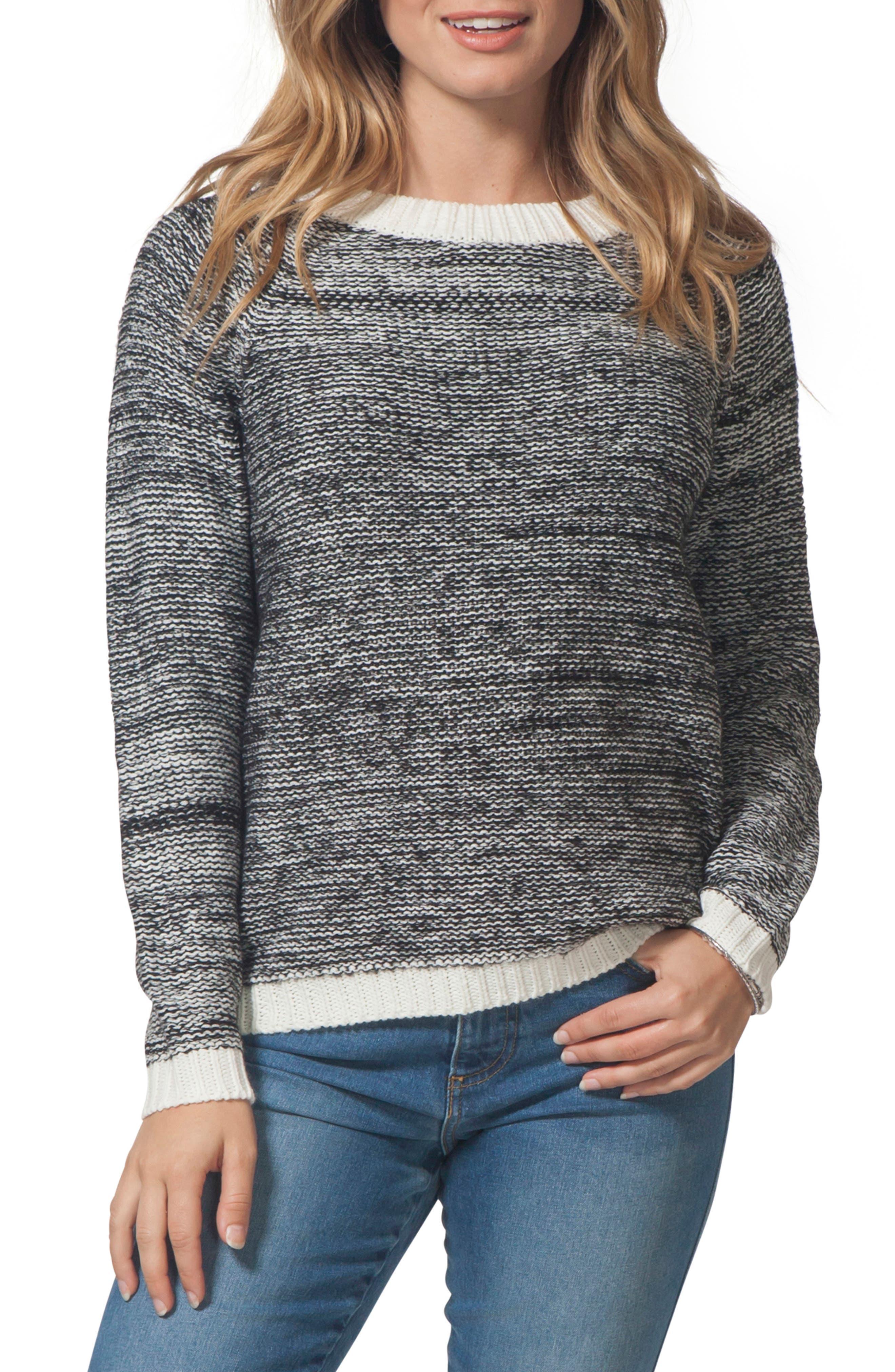 Beachside Crewneck Sweater,                             Main thumbnail 1, color,                             CASTOR GRAY