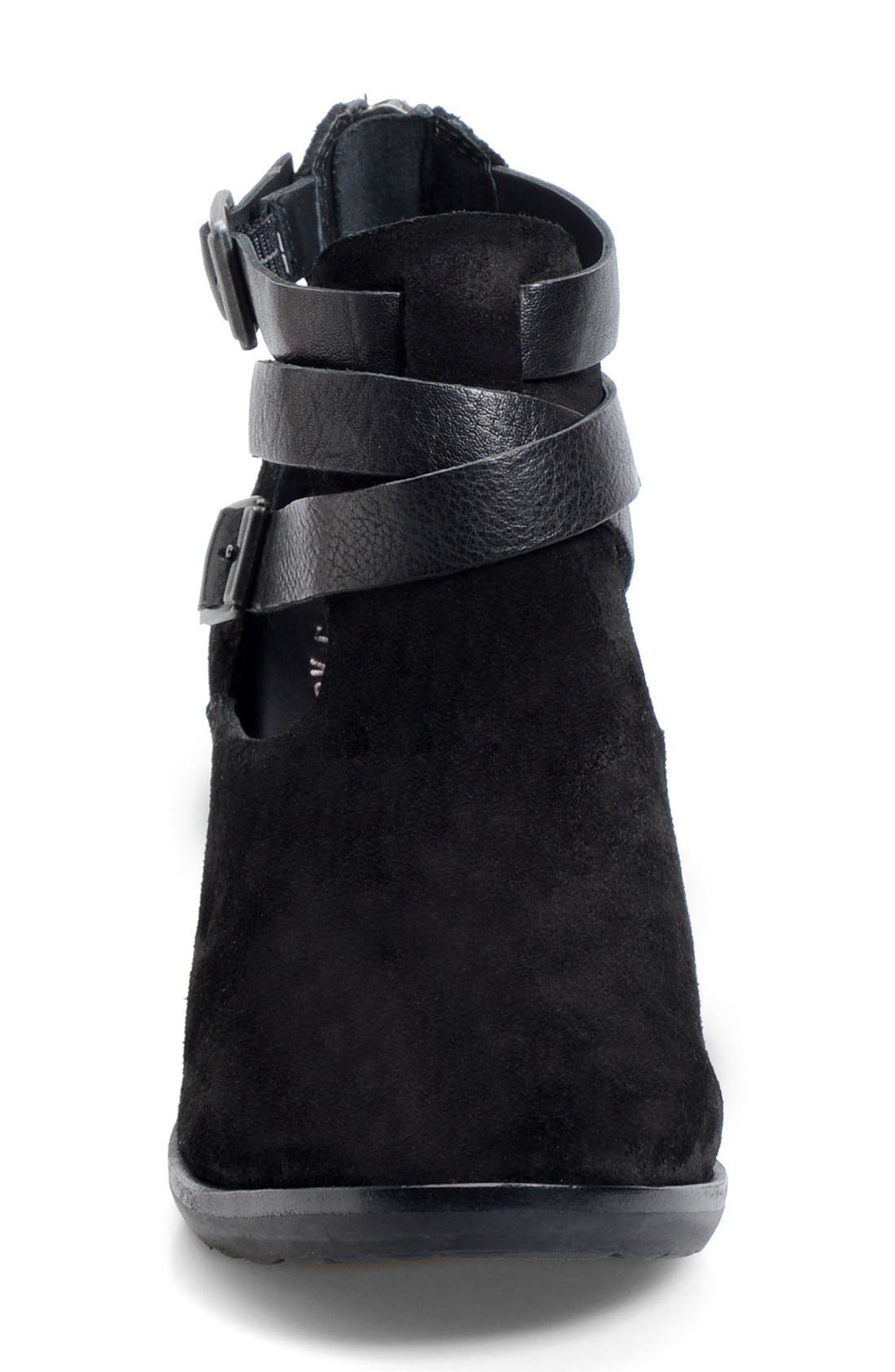 'Stina' Leather Bootie,                             Alternate thumbnail 3, color,                             001