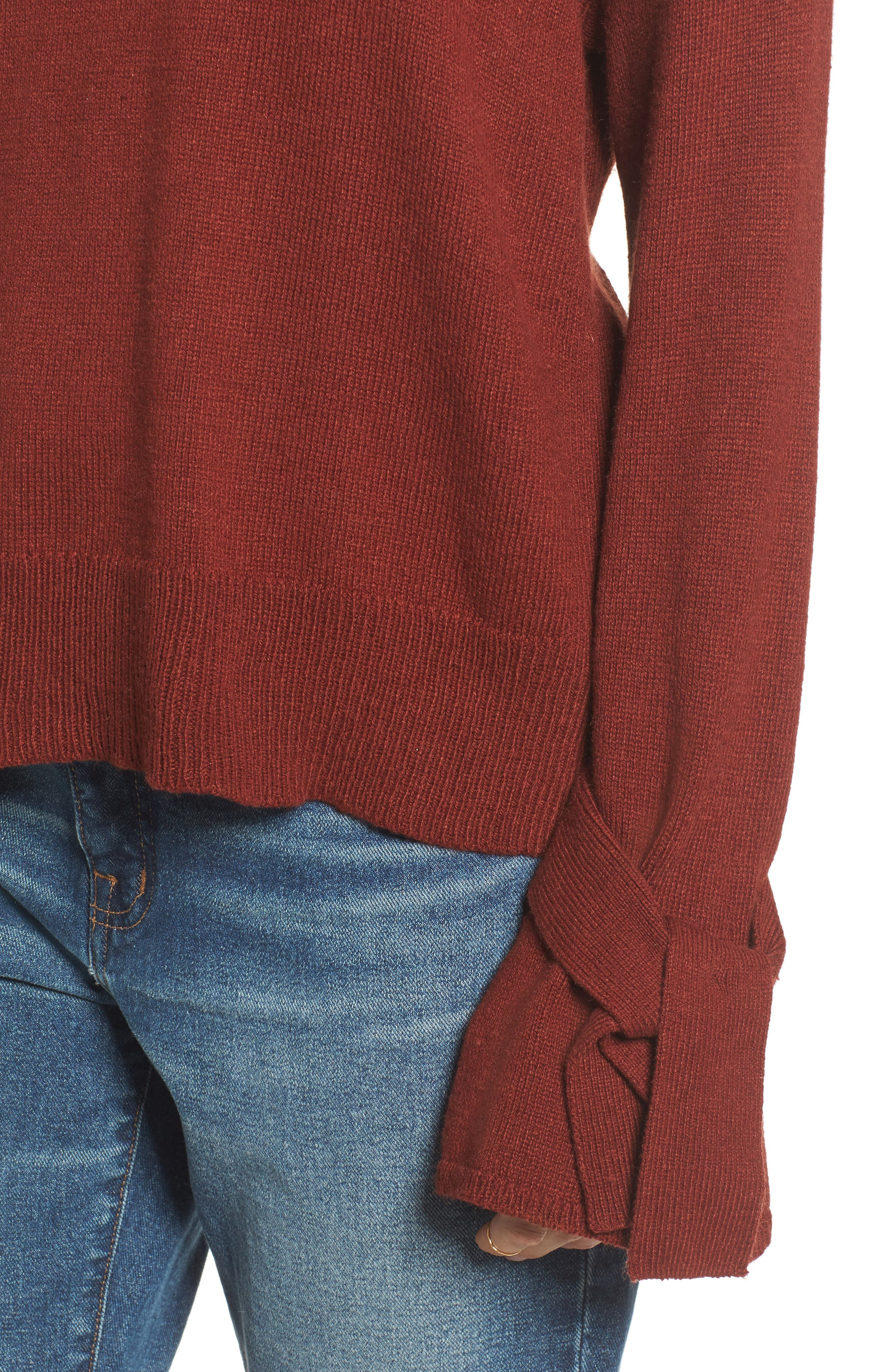 Tie Cuff Pullover Sweater,                             Alternate thumbnail 14, color,