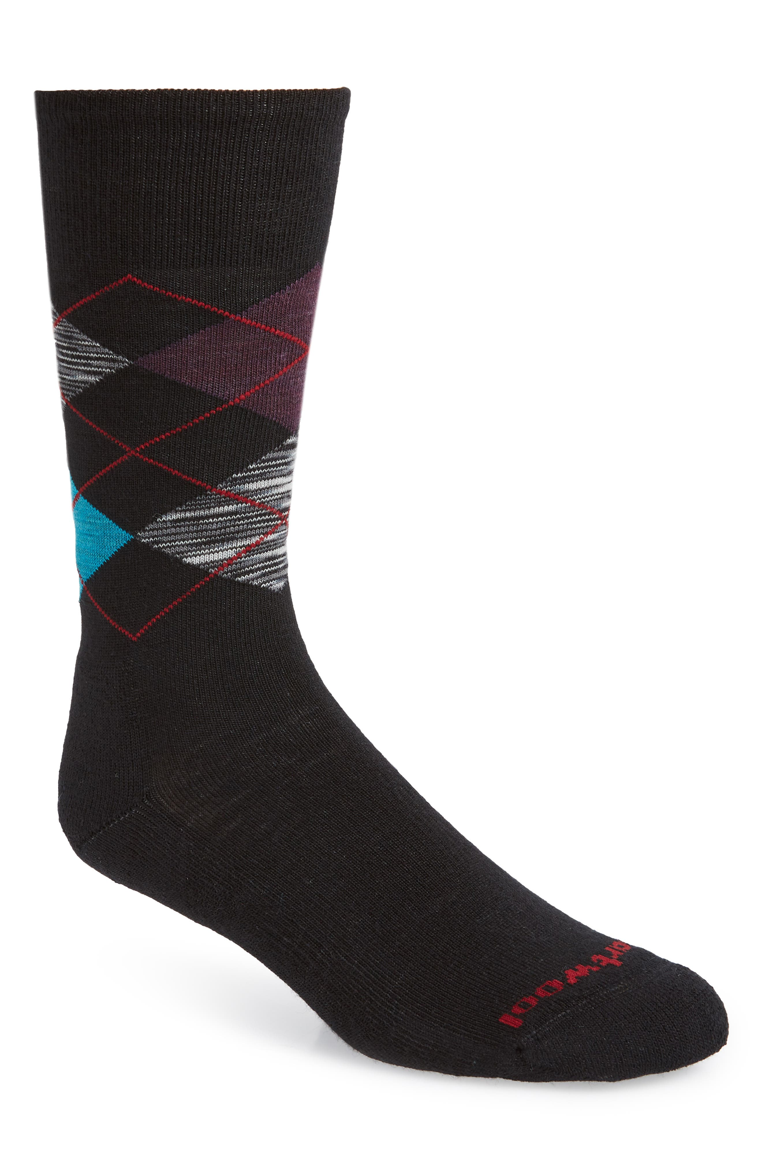 Diamond Jim Argyle Socks,                         Main,                         color, BLACK SPACE DYE