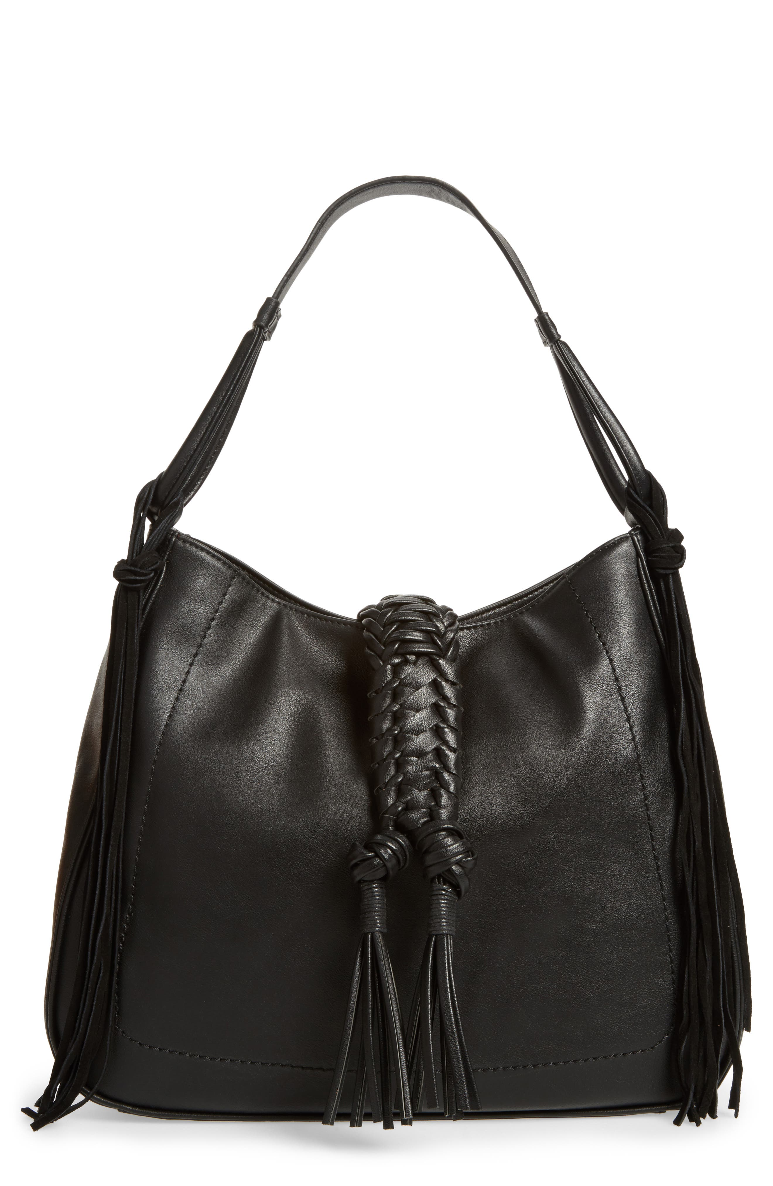 Vale Faux Leather Hobo Bag,                         Main,                         color, 001