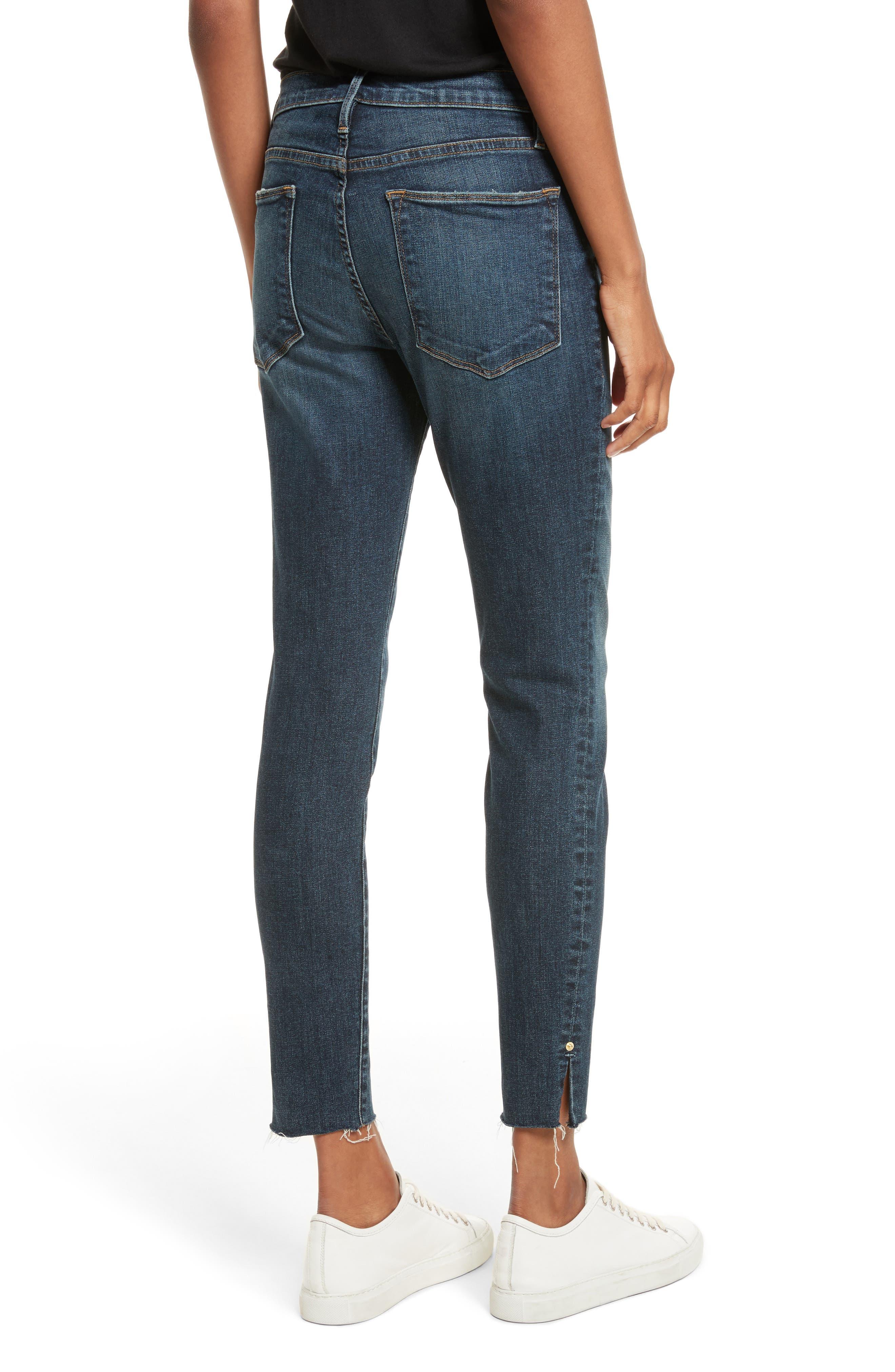 Le High Slit Ankle Skinny Jeans,                             Alternate thumbnail 2, color,