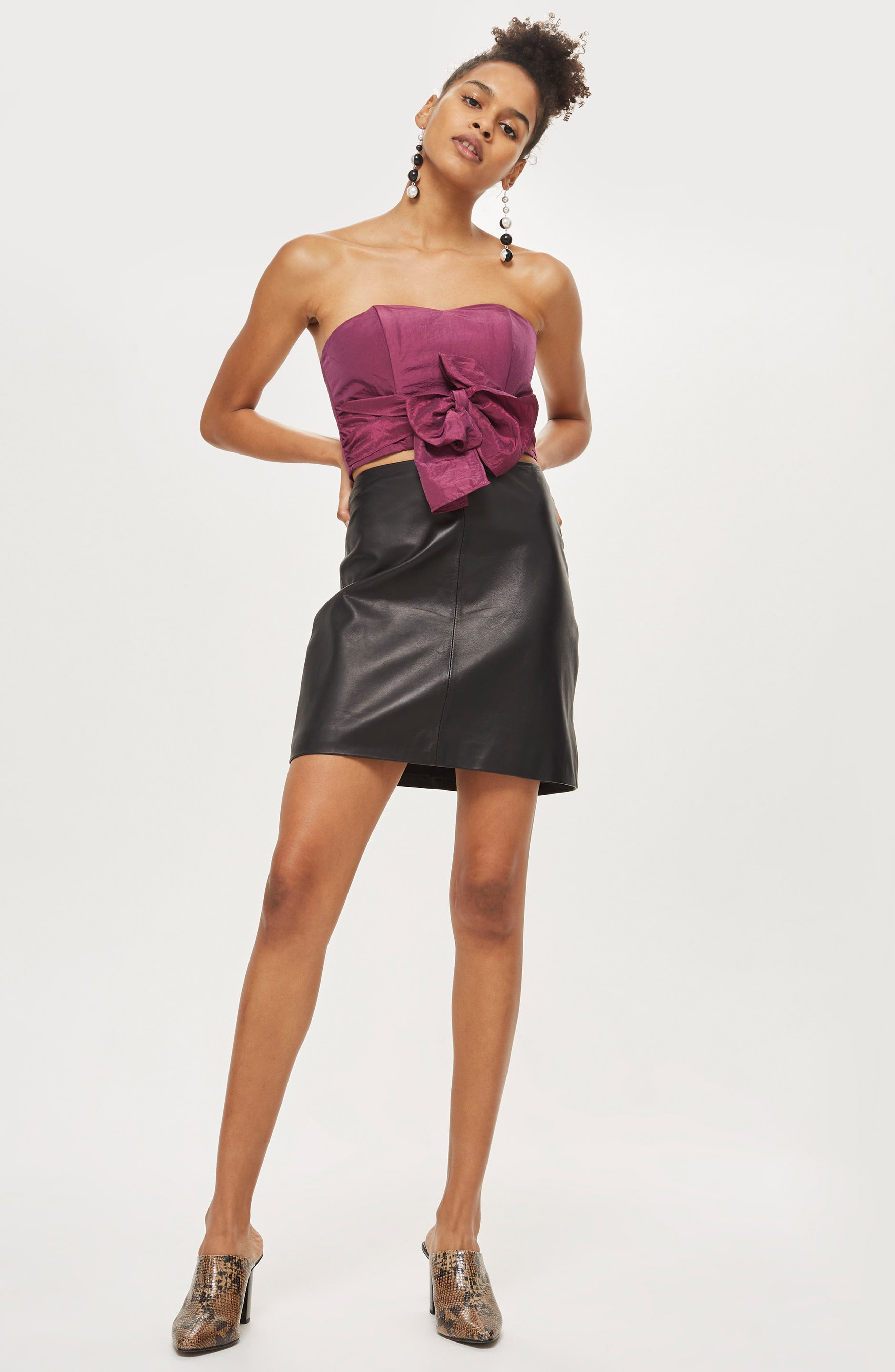 Taffeta Sweetheart Bandeau Tie Blouse,                             Alternate thumbnail 4, color,                             651