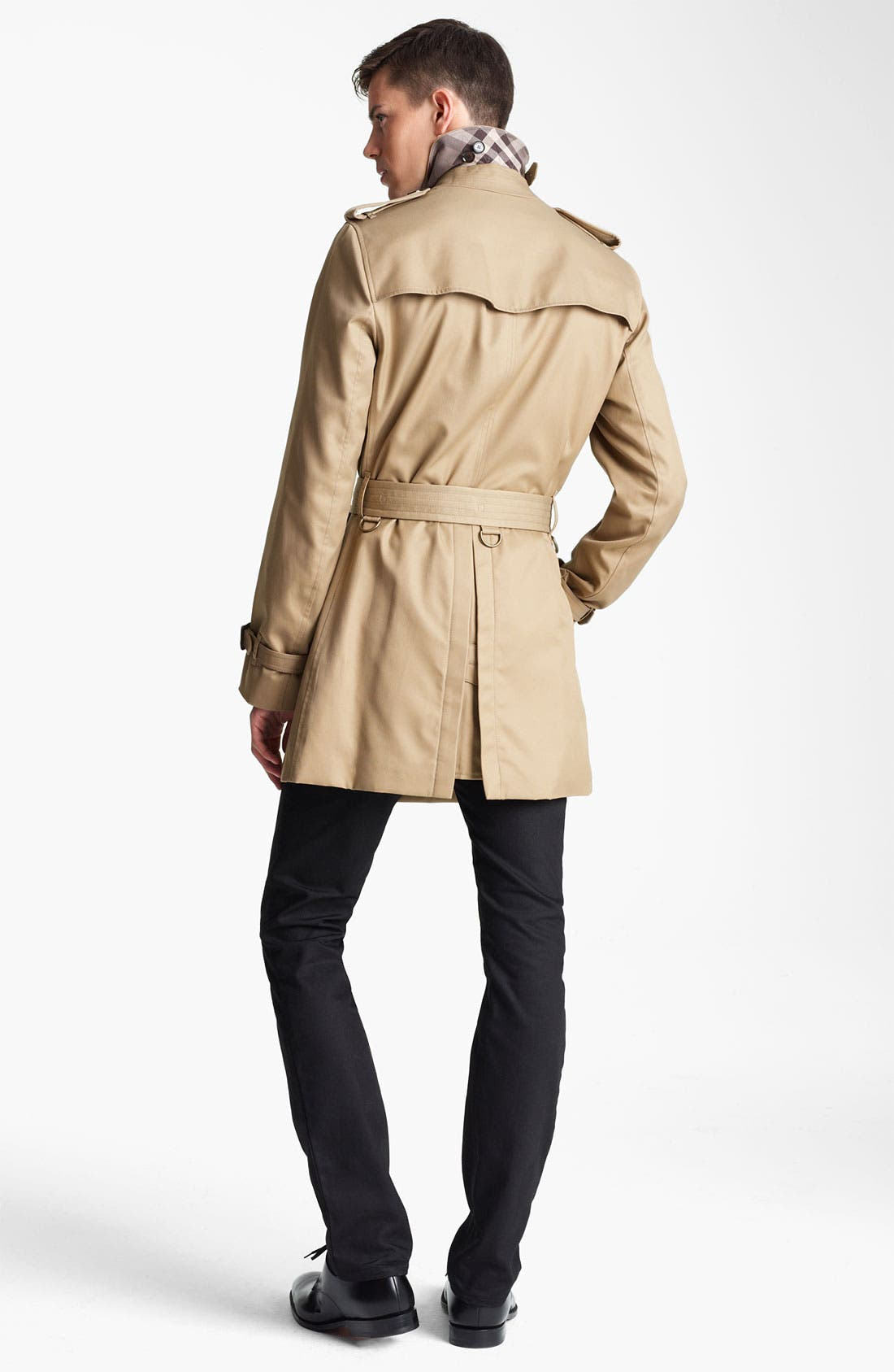 London 'Britton' Single Breasted Trench Coat,                             Alternate thumbnail 6, color,                             250