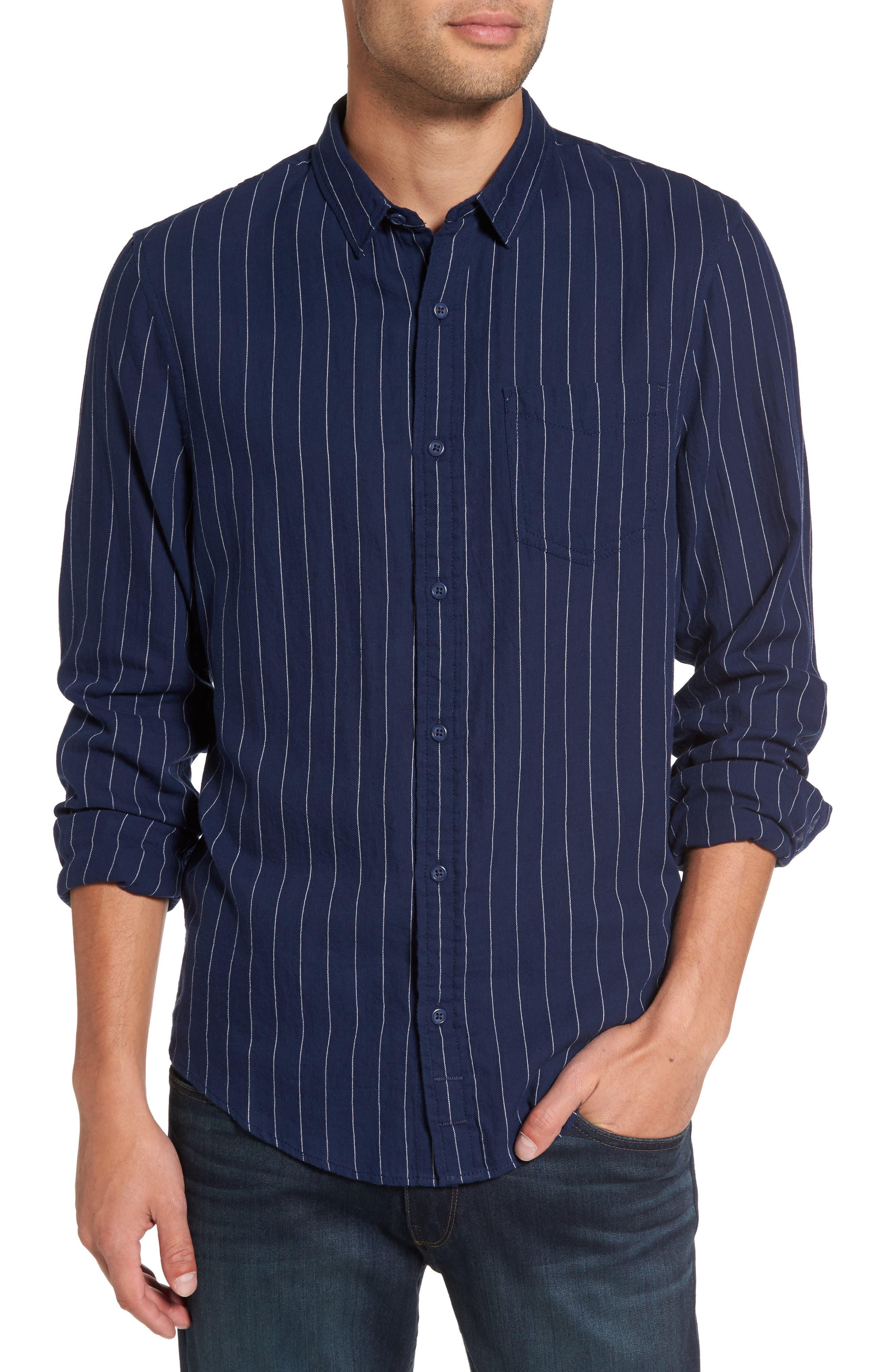 Stripe Twill Shirt,                             Main thumbnail 1, color,