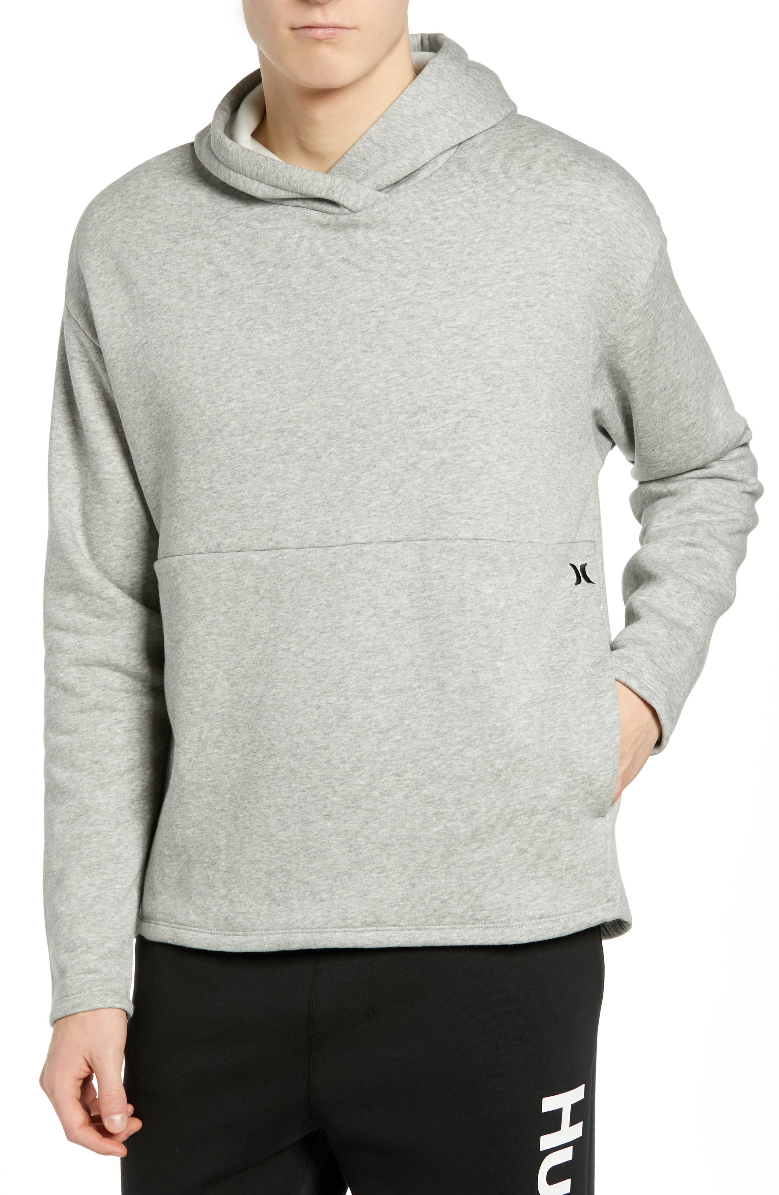 Hurley Surf Check Icon Pullover Hoodie, Grey