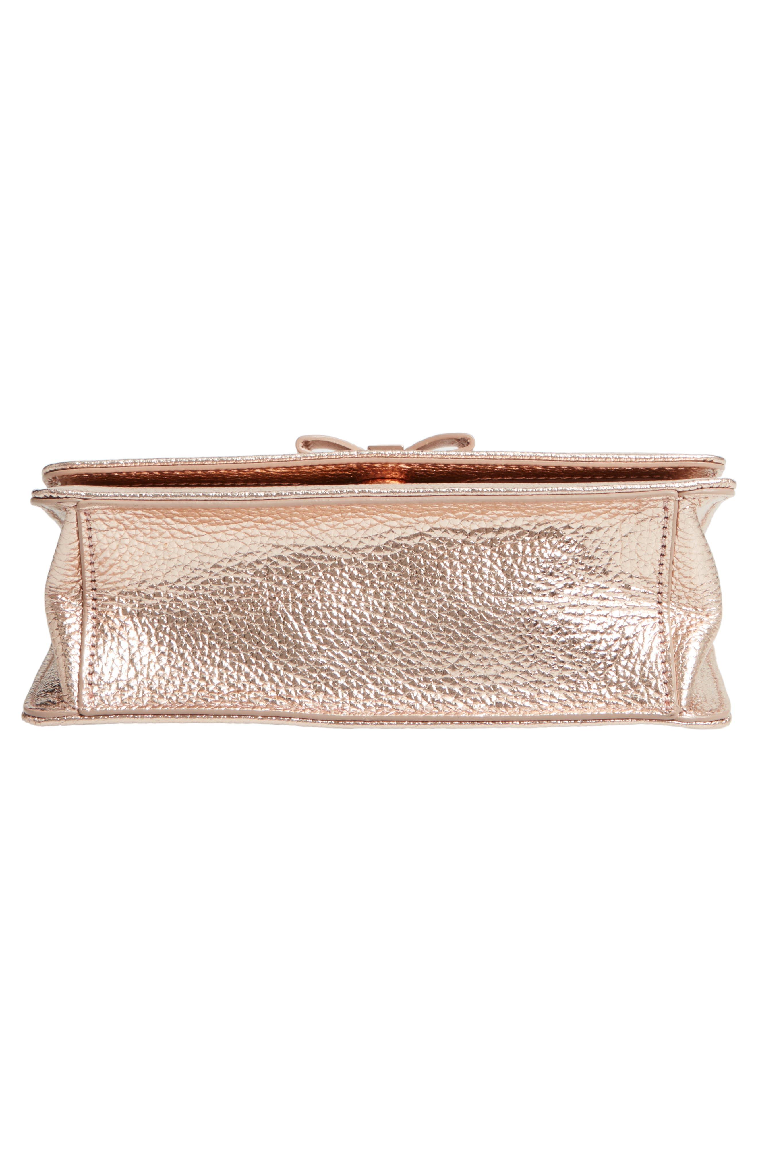 Micro Leather Crossbody Bag,                             Alternate thumbnail 6, color,                             712