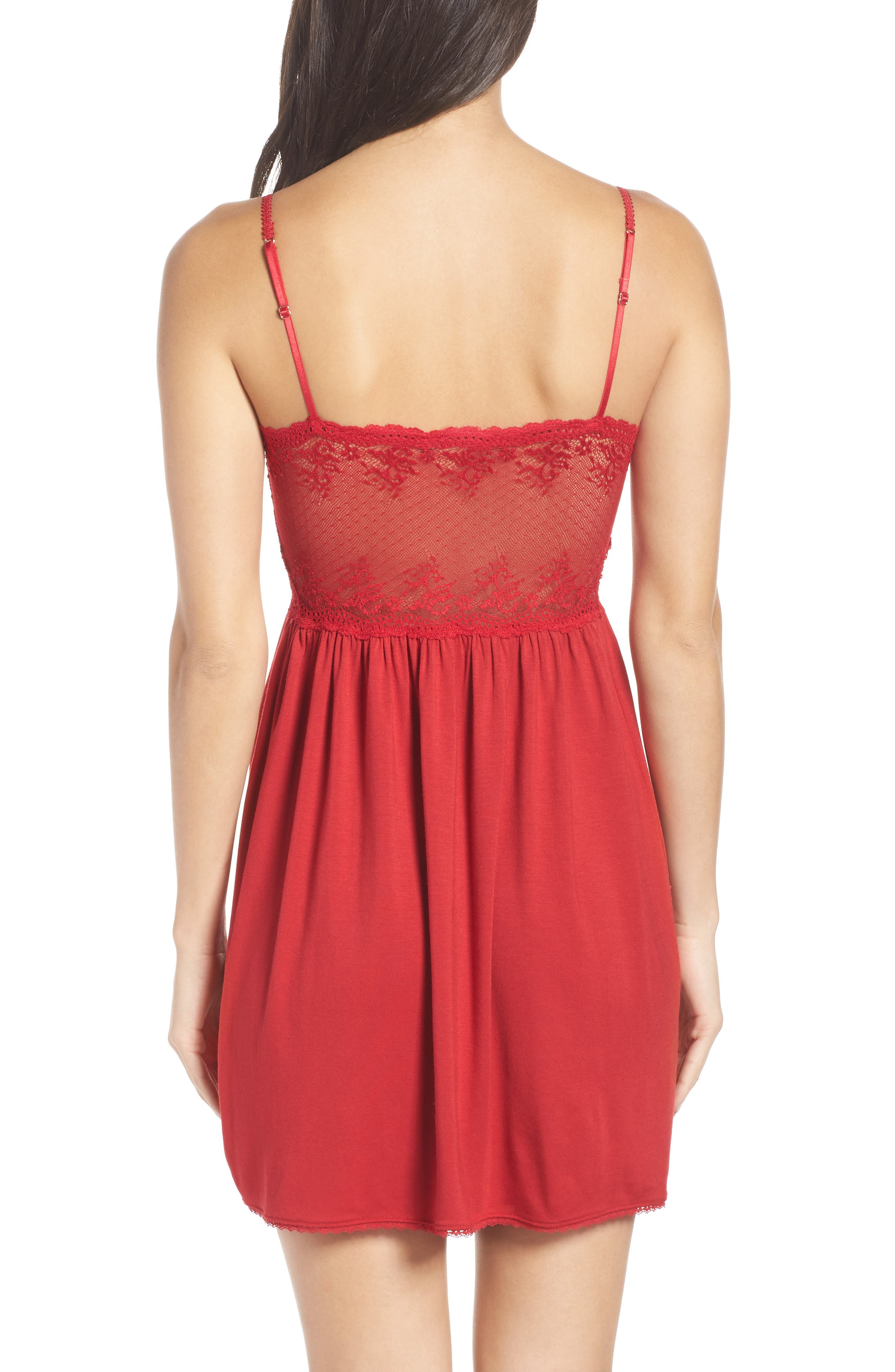 'Colette' Chemise,                             Alternate thumbnail 2, color,                             SCARLET