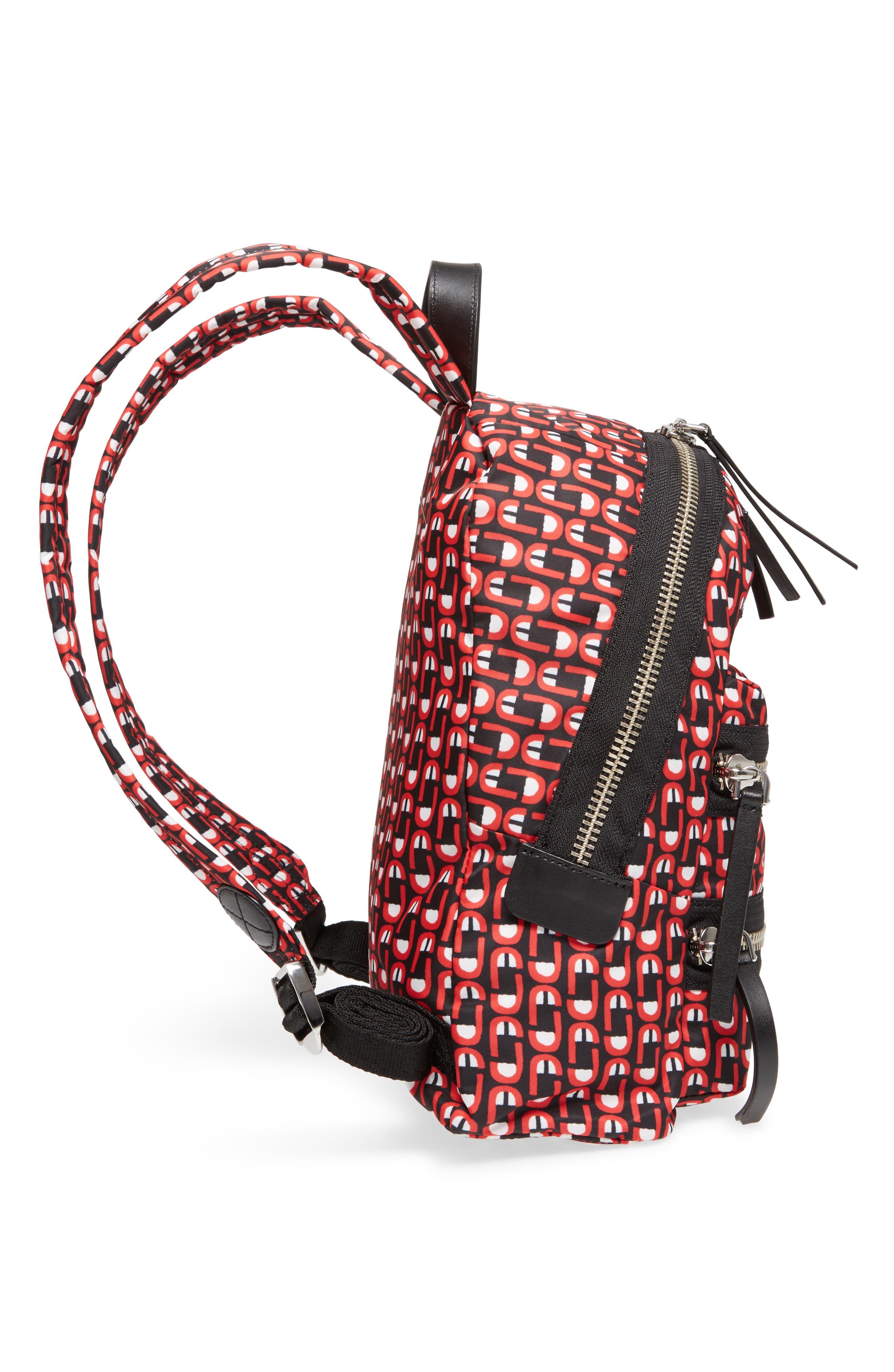 Logo Scream Mini Biker Backpack,                             Alternate thumbnail 5, color,                             601