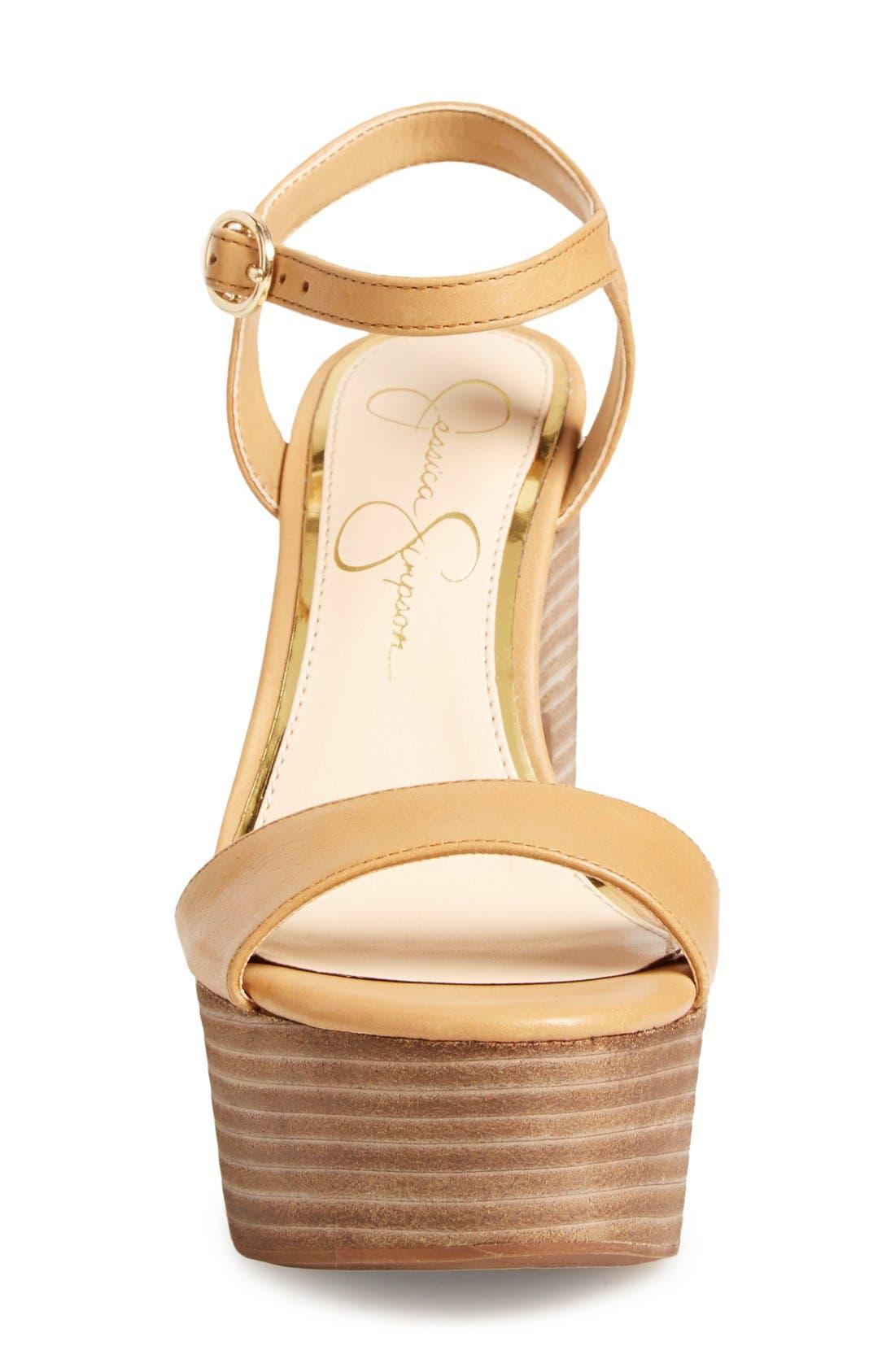 'Whirl' Platform Sandal,                             Alternate thumbnail 3, color,                             281