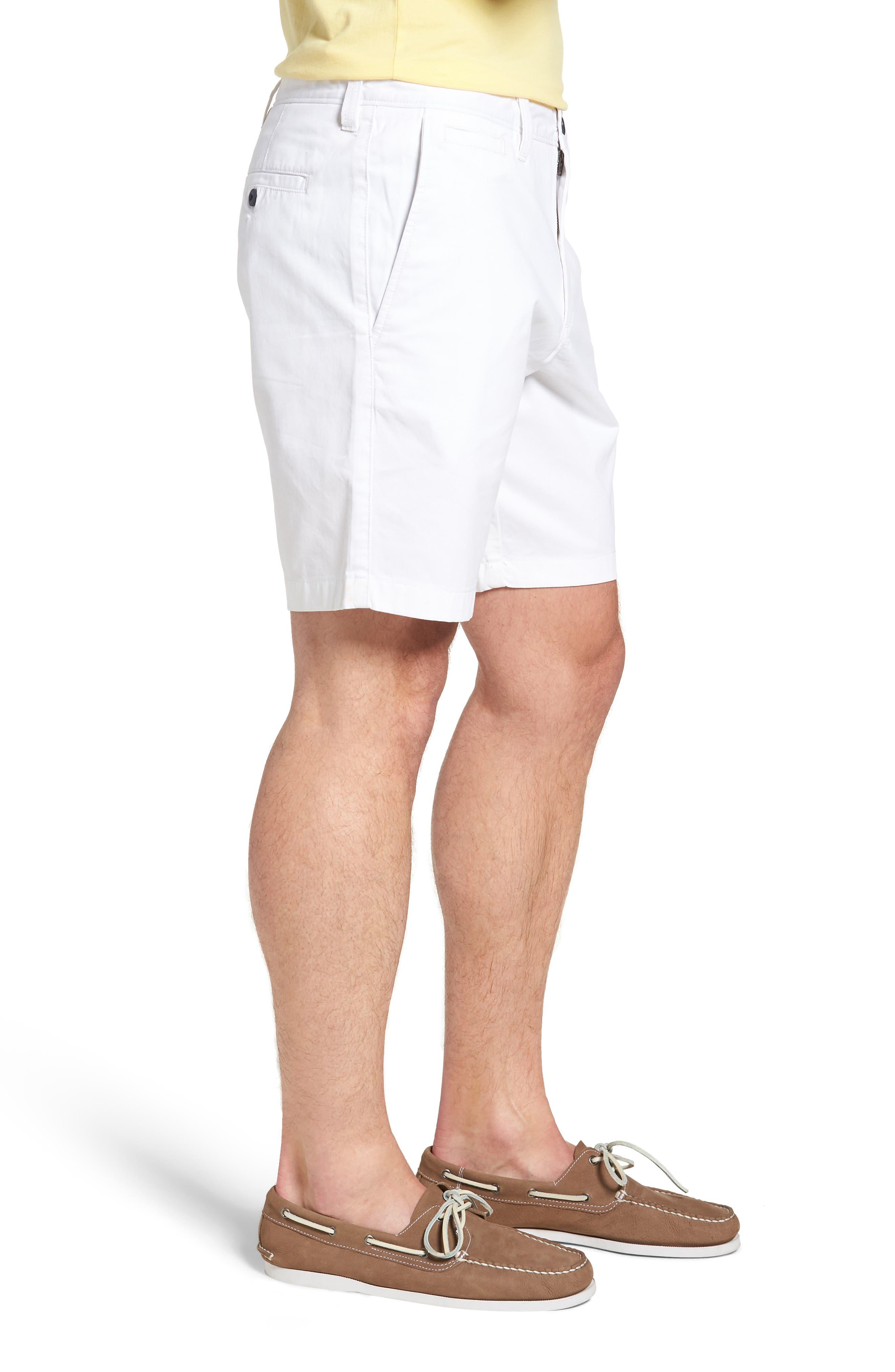 Ballard Slim Fit Stretch Chino 9-Inch Shorts,                             Alternate thumbnail 3, color,                             WHITE