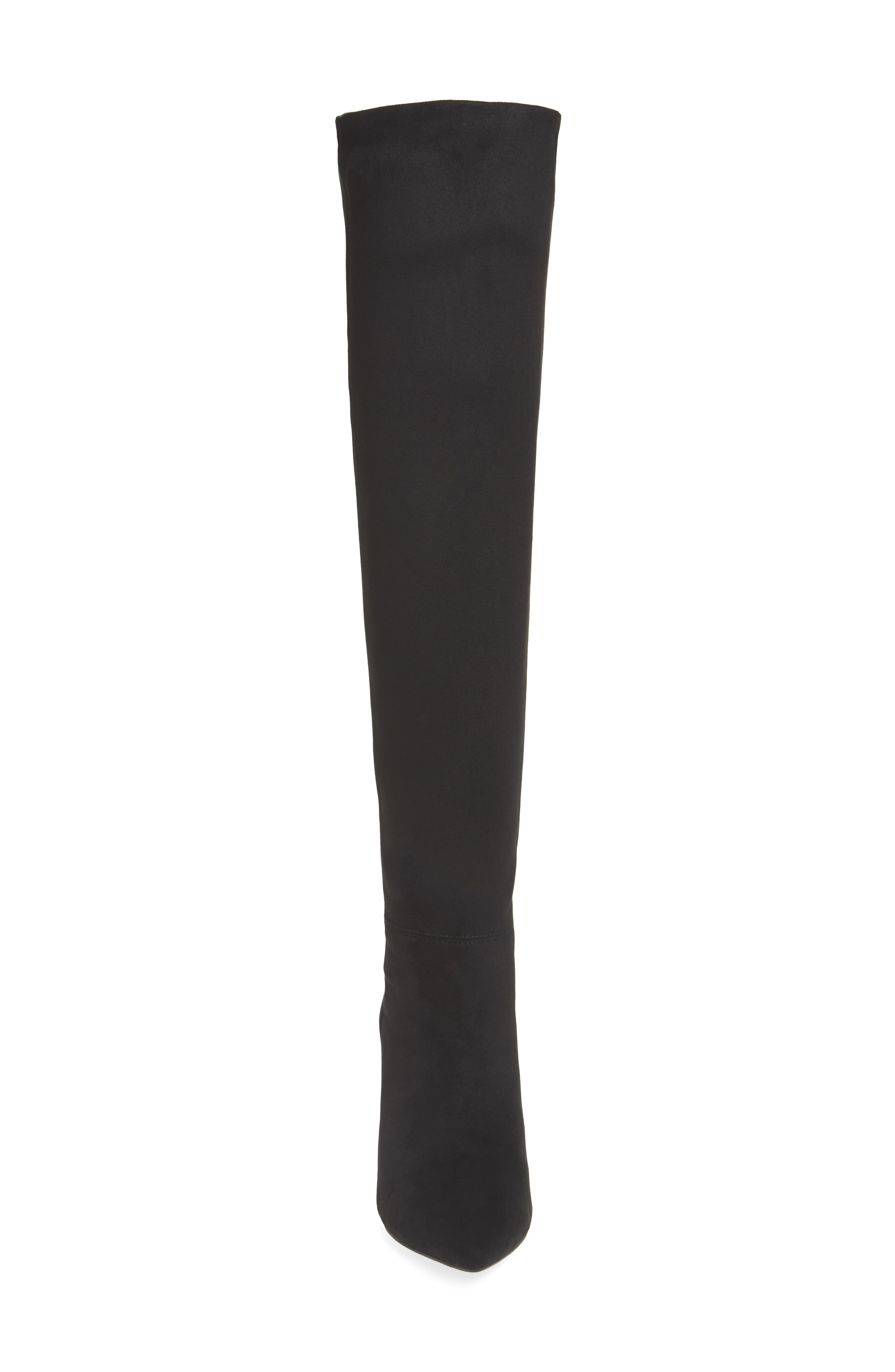 Final Slouch Over the Knee Boot,                             Alternate thumbnail 4, color,                             BLACK SUEDE