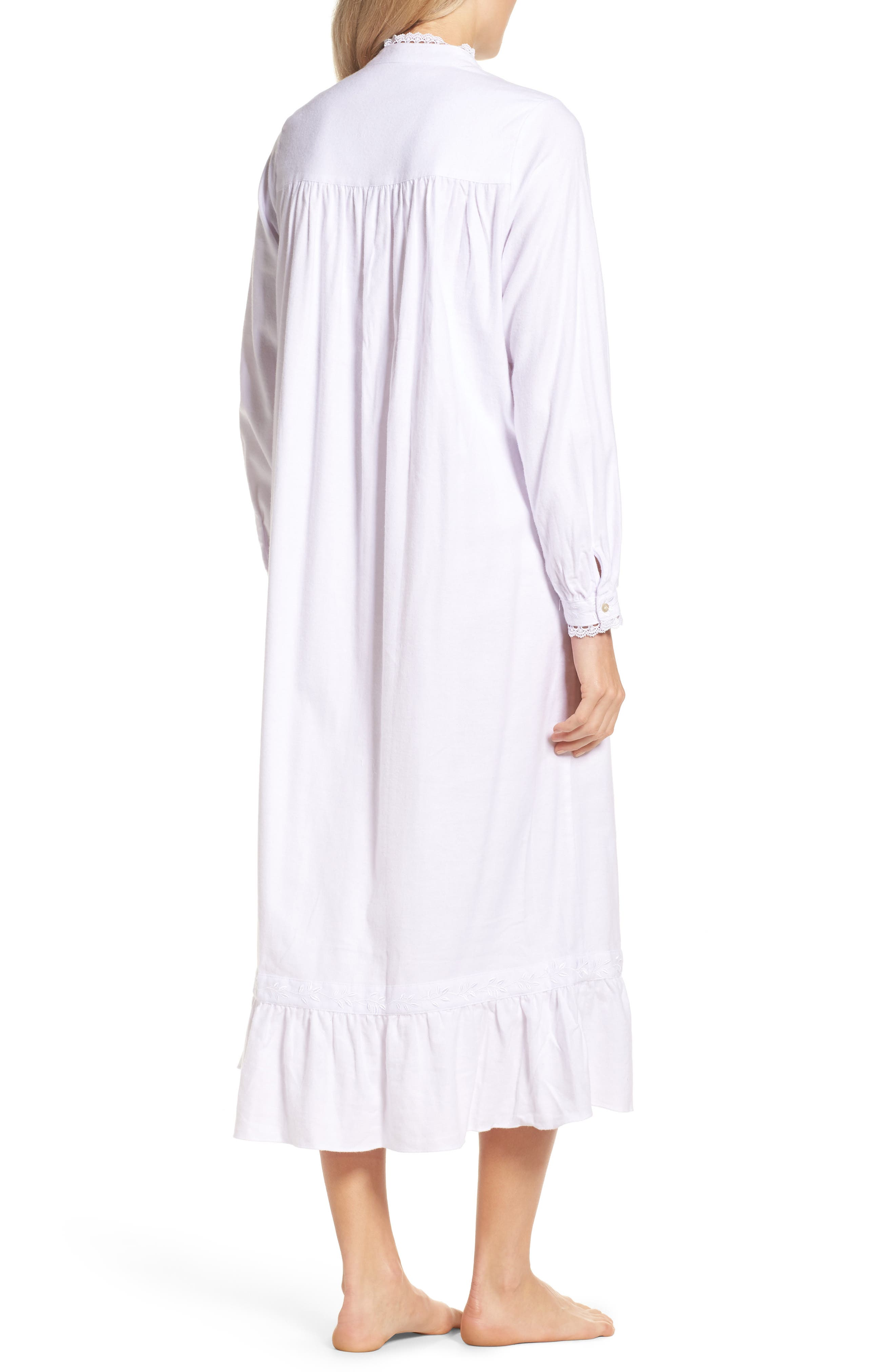 High Neck Cotton Nightgown,                             Alternate thumbnail 2, color,