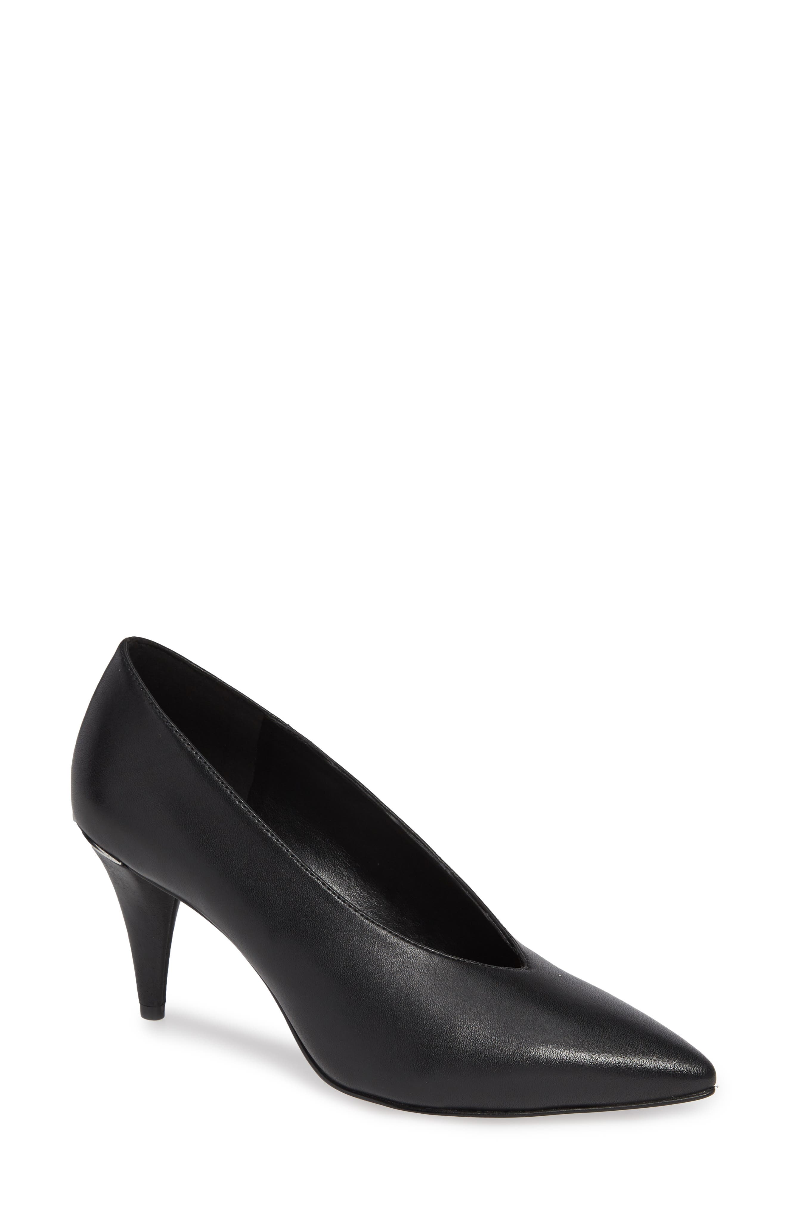 MICHAEL MICHAEL KORS Lizzy Pointed Toe Pump, Main, color, 001