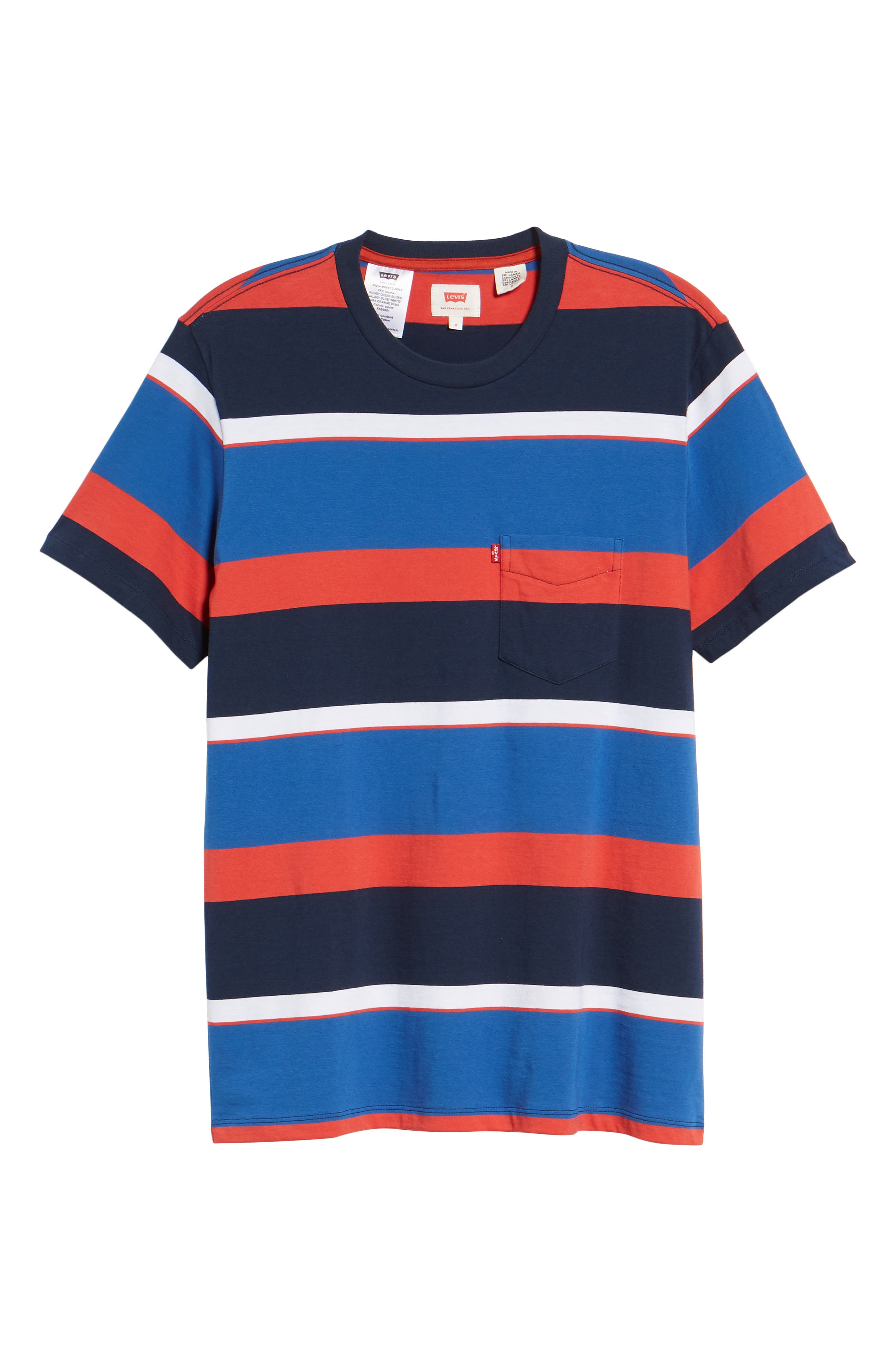 Levi's Sunset Stripe Pocket T-Shirt,                             Alternate thumbnail 6, color,                             SIXTIES RUGBY