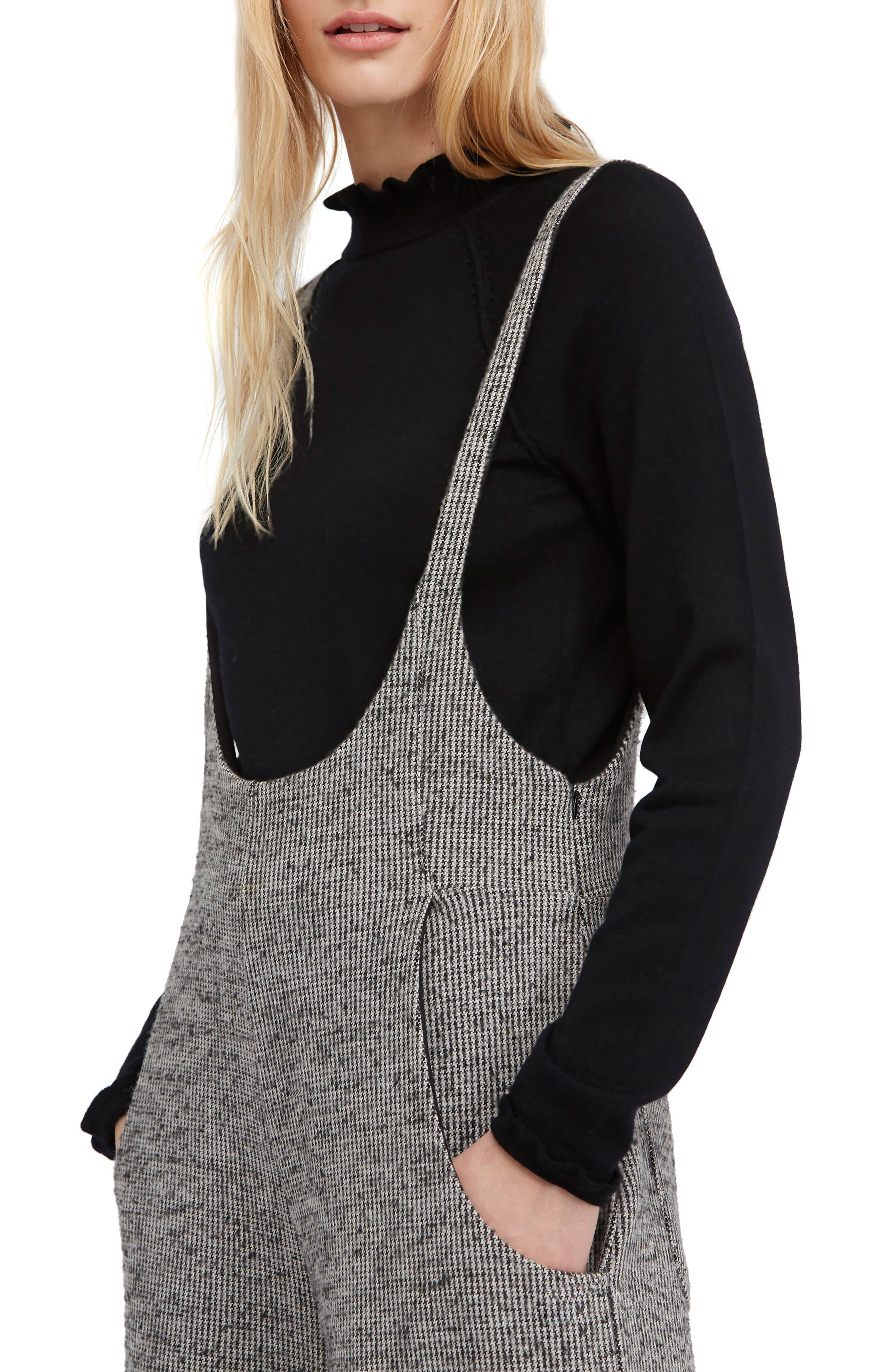 Free People Needle & Thread Merino Wool Sweater, Black