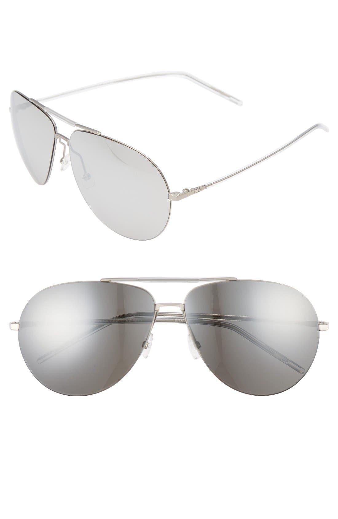 62mm Aviator Sunglasses,                             Main thumbnail 2, color,
