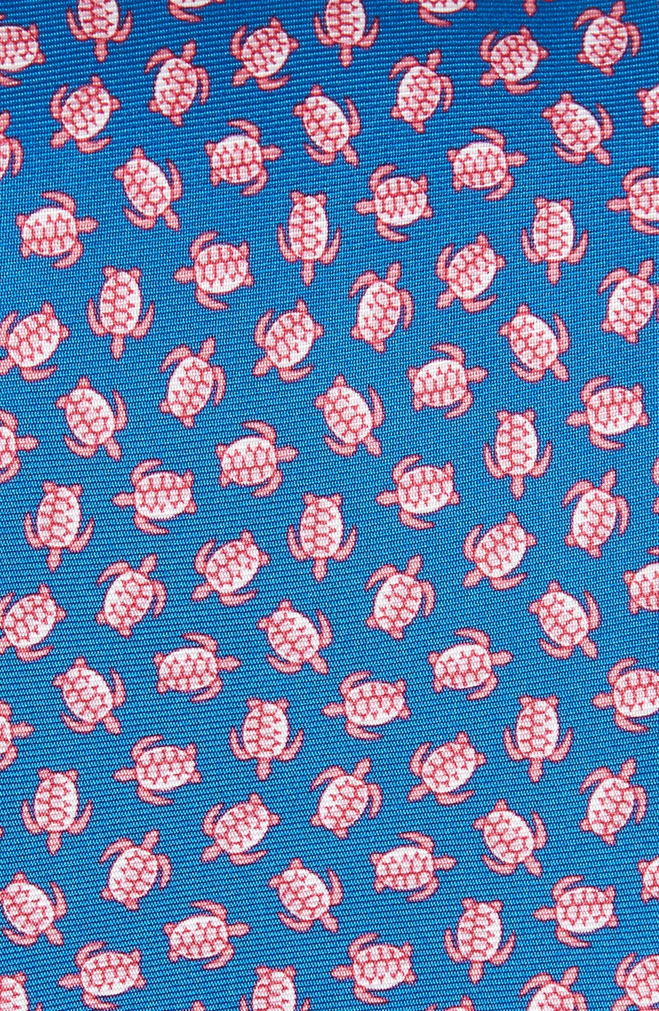 Sea Turtles Print Silk Tie,                             Alternate thumbnail 2, color,                             400