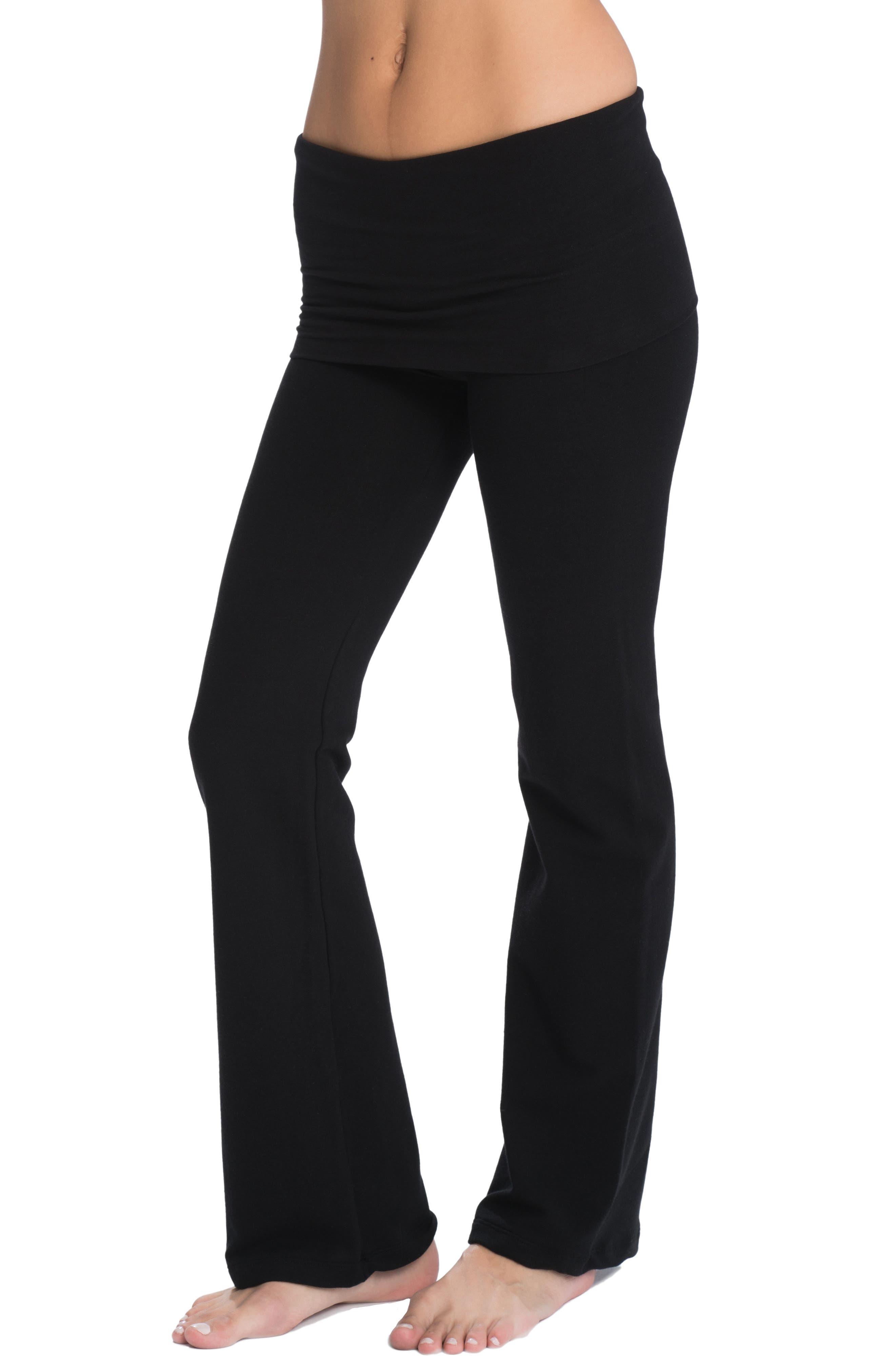 Cozy Wide Leg Foldover Maternity Pants,                             Alternate thumbnail 2, color,                             005