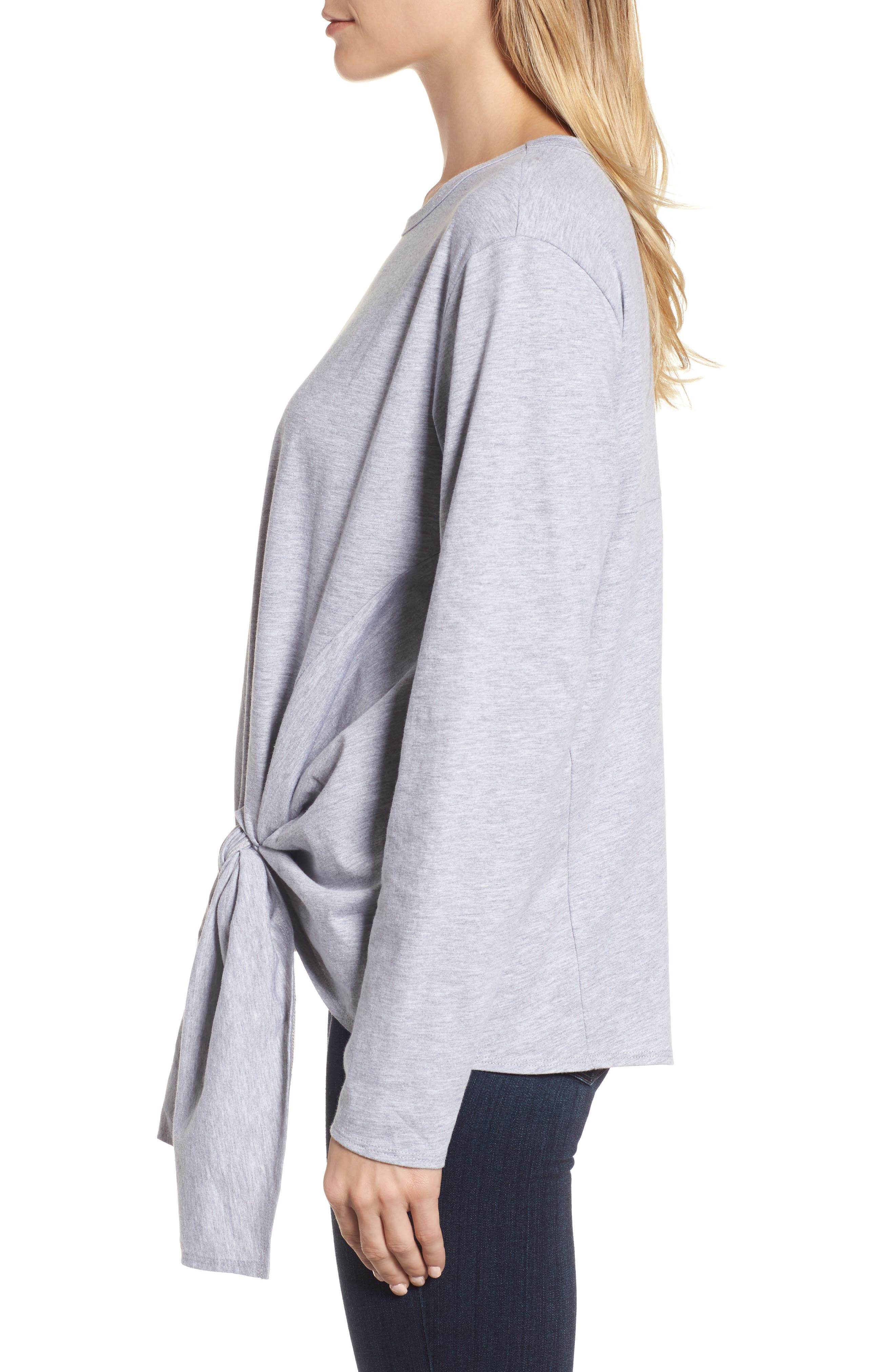 Long Sleeve Side Tie Tee,                             Alternate thumbnail 15, color,