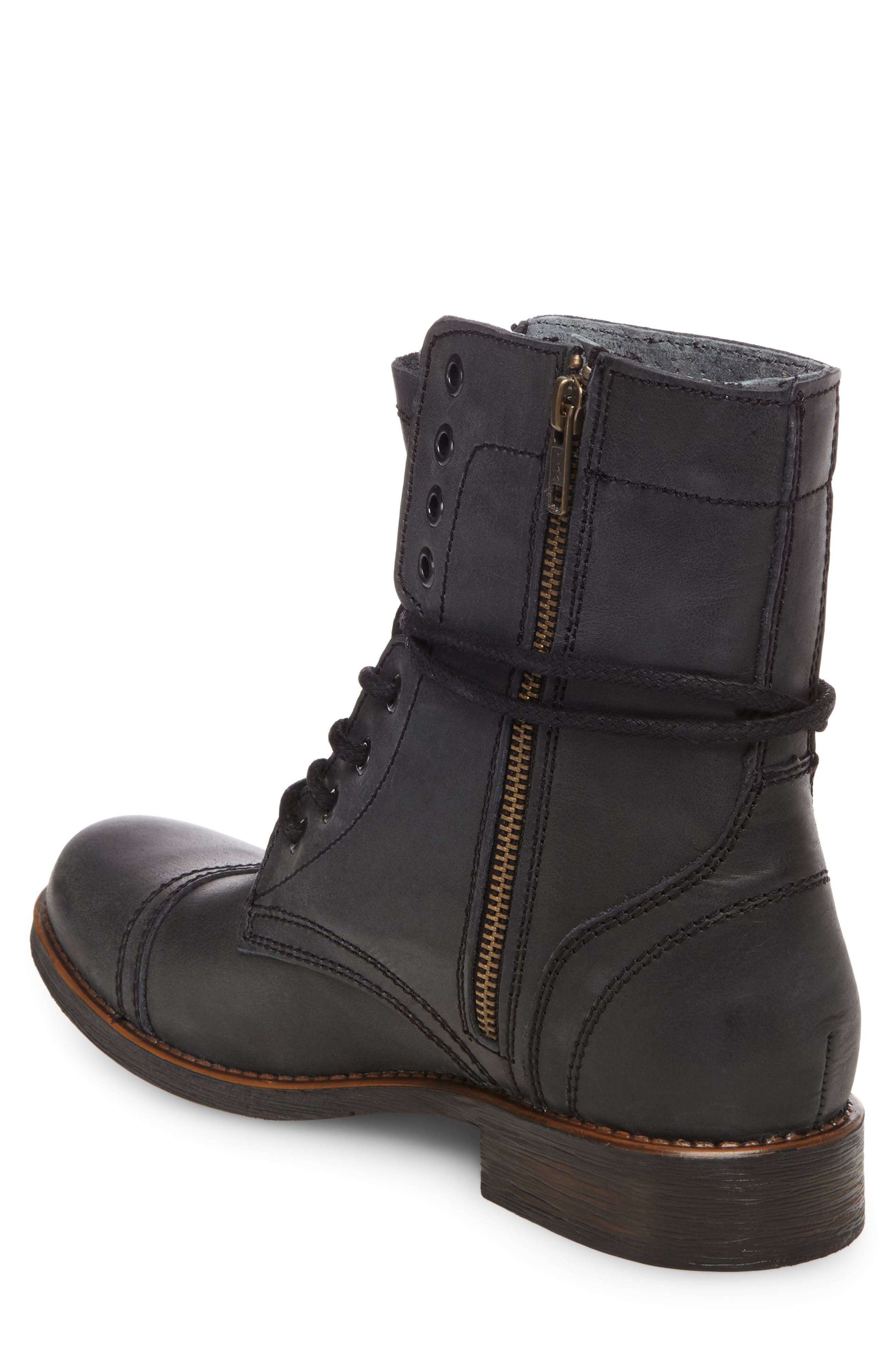 Troopah-C Cap Toe Boot,                             Alternate thumbnail 2, color,                             BLACK LEATHER