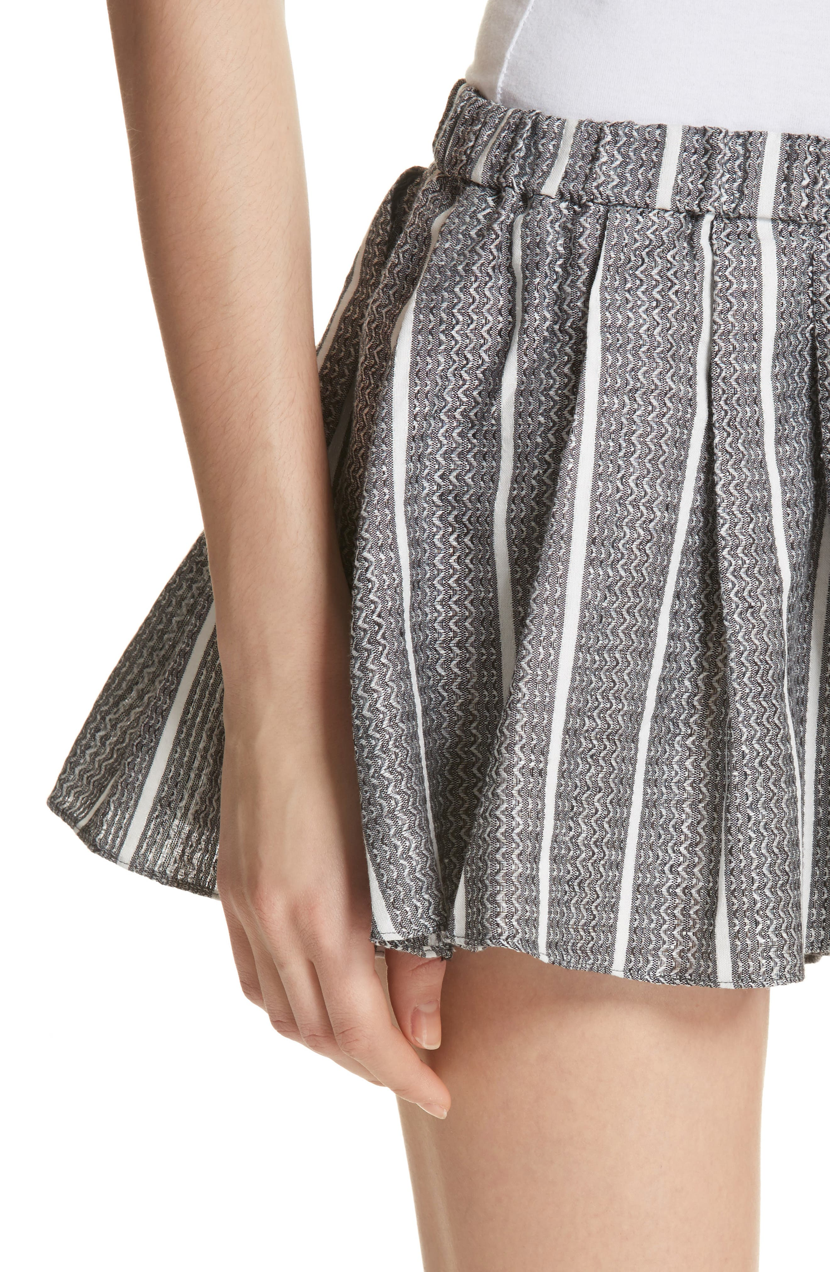 Pleated Shorts,                             Alternate thumbnail 4, color,                             001