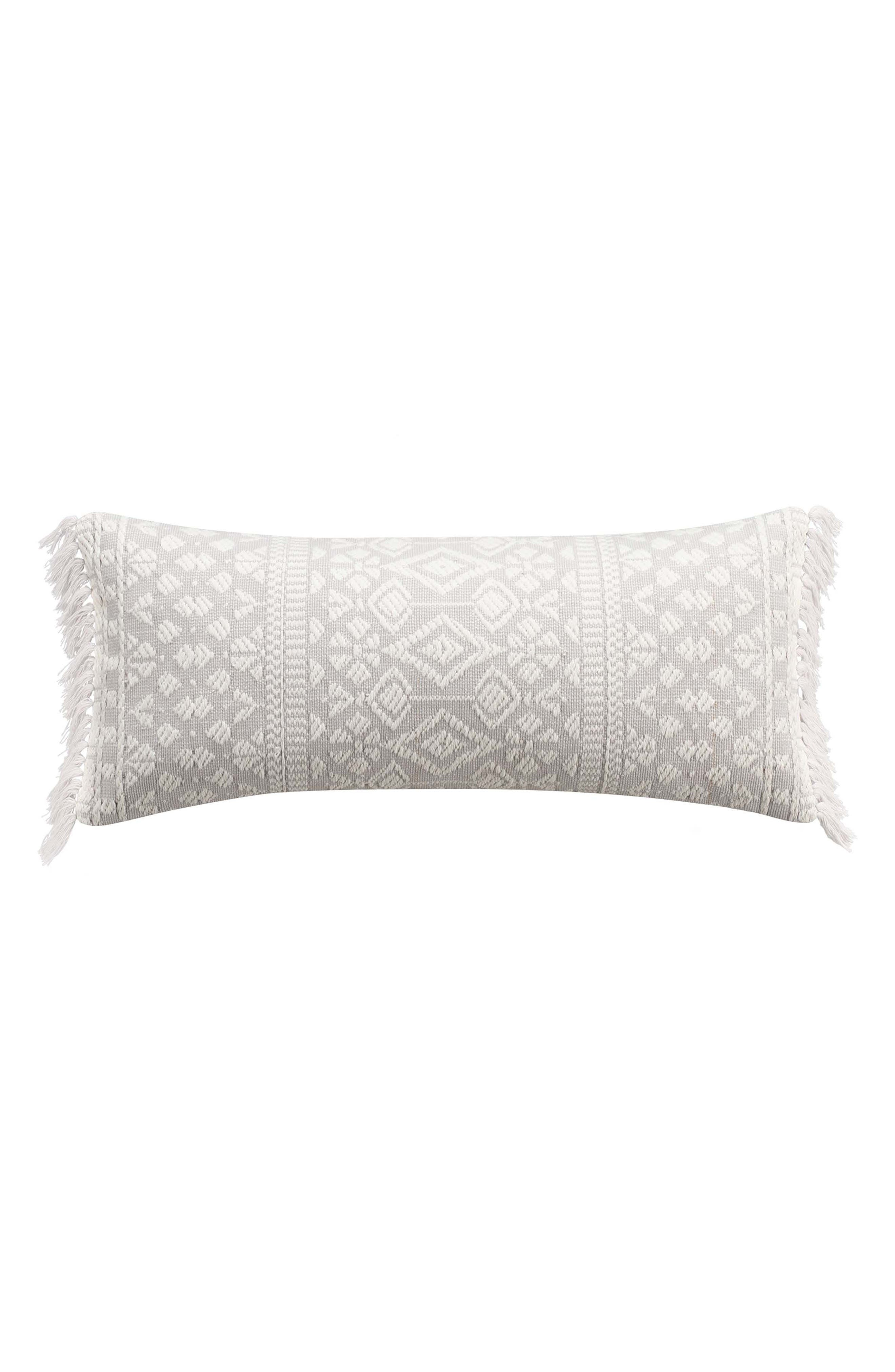 Geometric Embroidered Accent Pillow,                             Main thumbnail 1, color,
