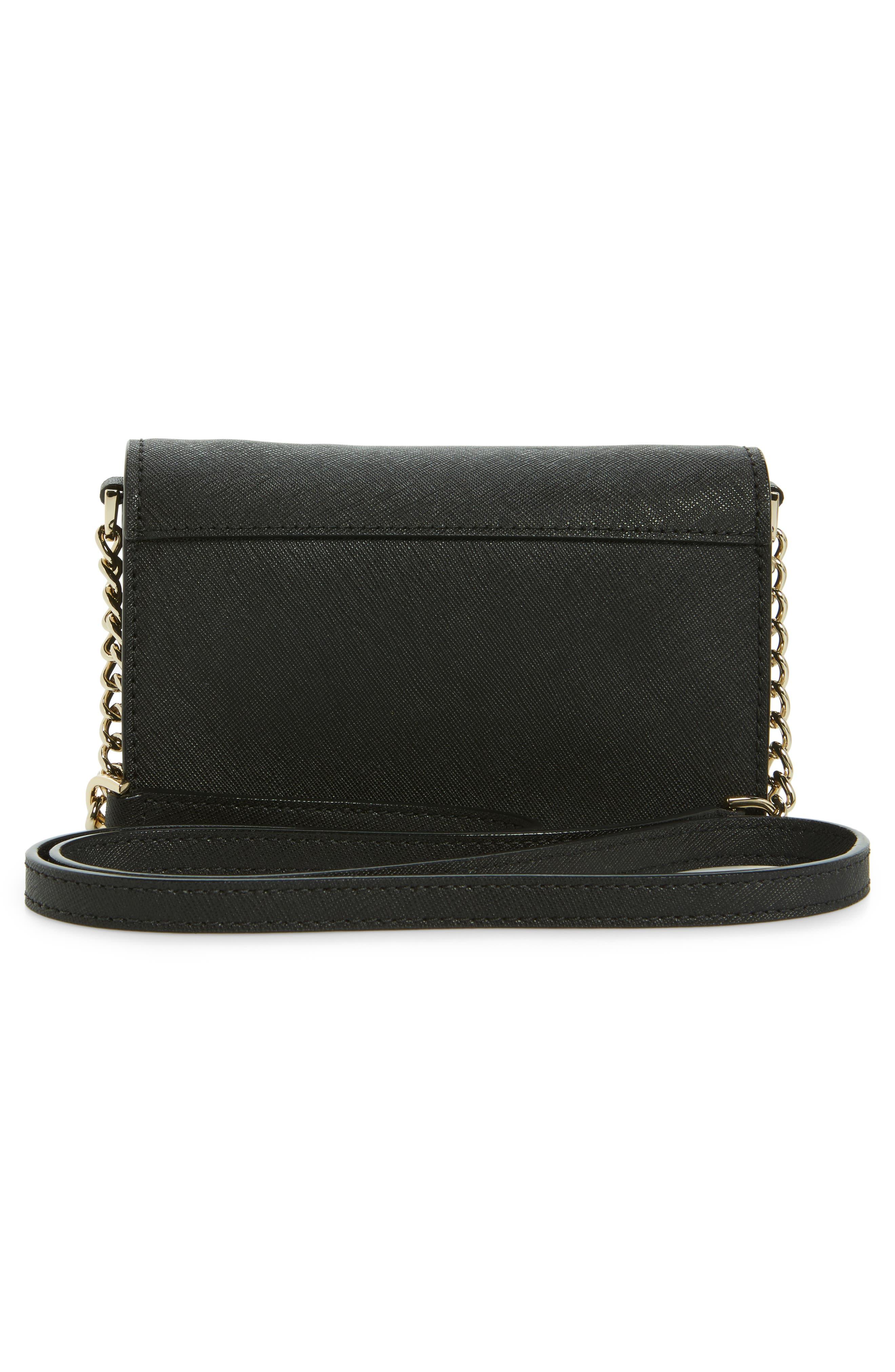 cameron street - shreya leather crossbody bag,                             Alternate thumbnail 3, color,                             001
