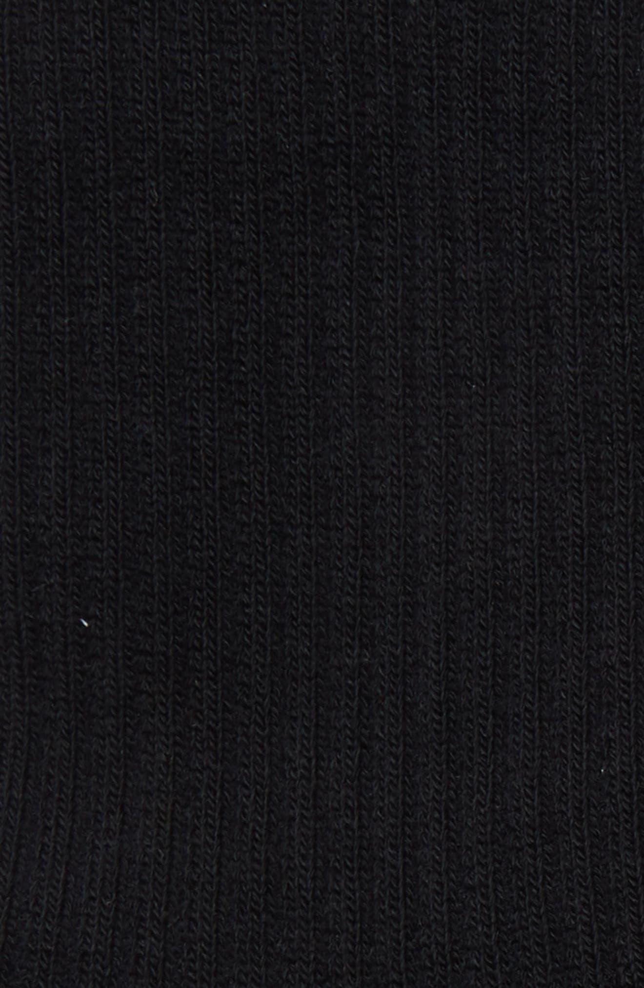 NikeLab 2-Pack Essential Crew Socks,                             Alternate thumbnail 4, color,                             BLACK/ WHITE