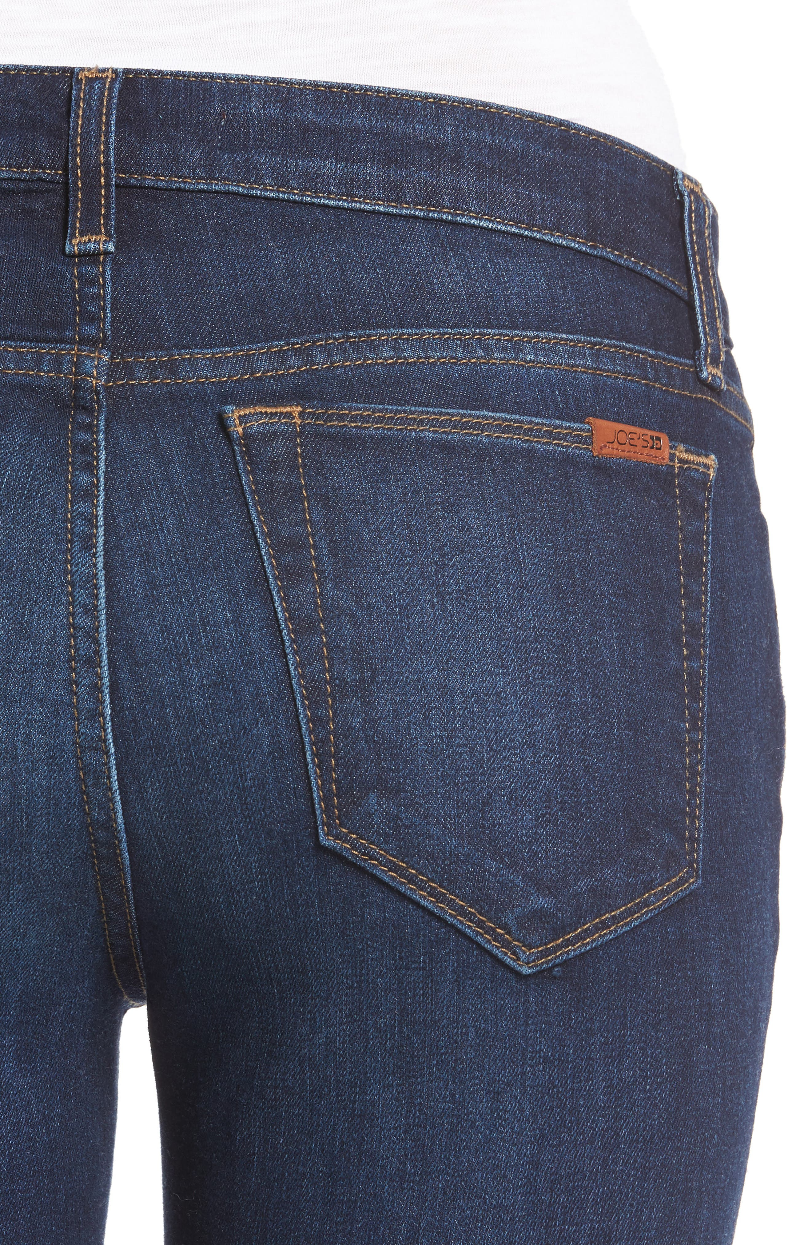 Icon Ankle Raw Hem Skinny Jeans,                             Alternate thumbnail 5, color,                             400
