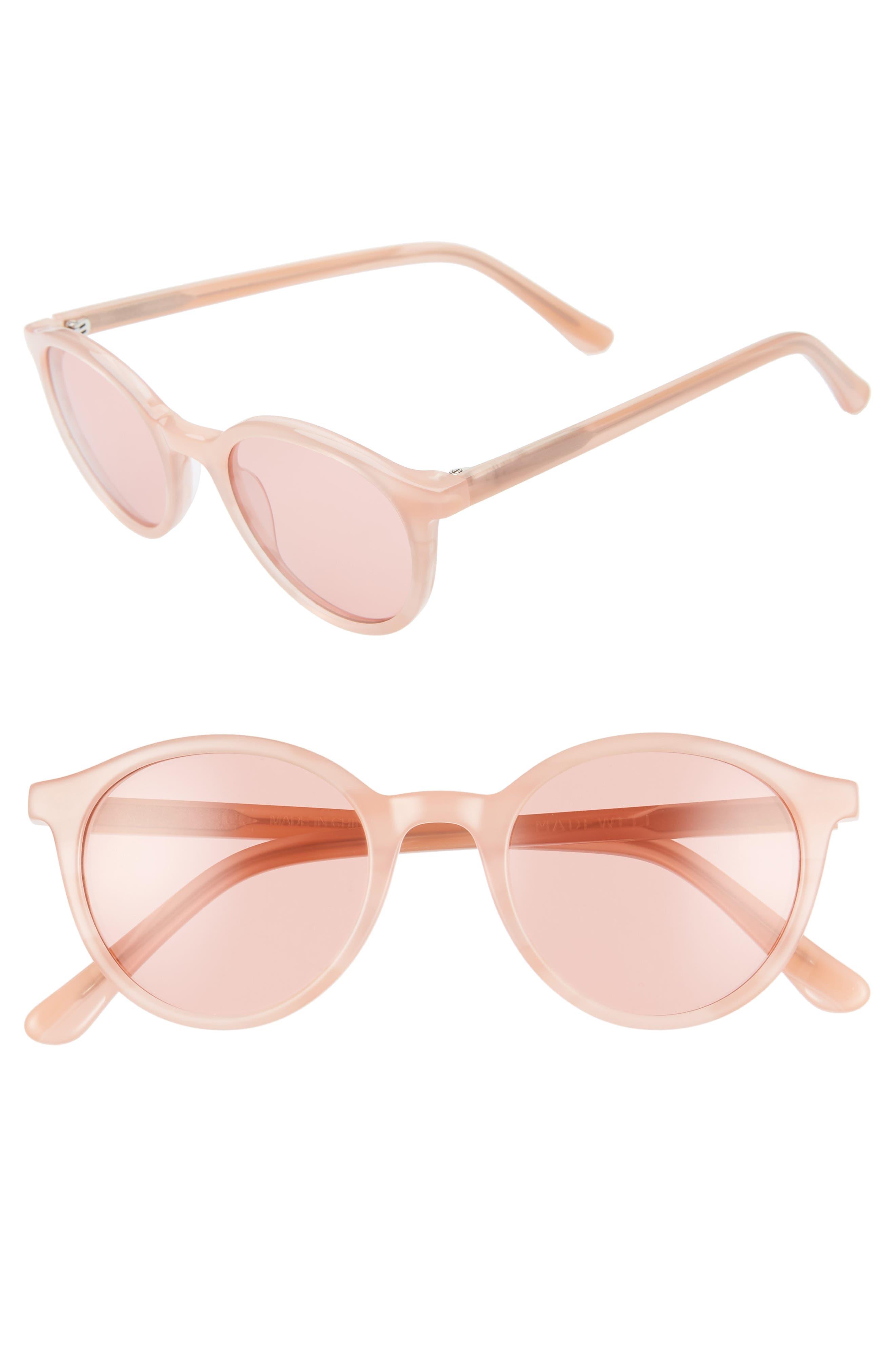 Madewell Layton 4m Round Sunglasses - Sweetheart Blush