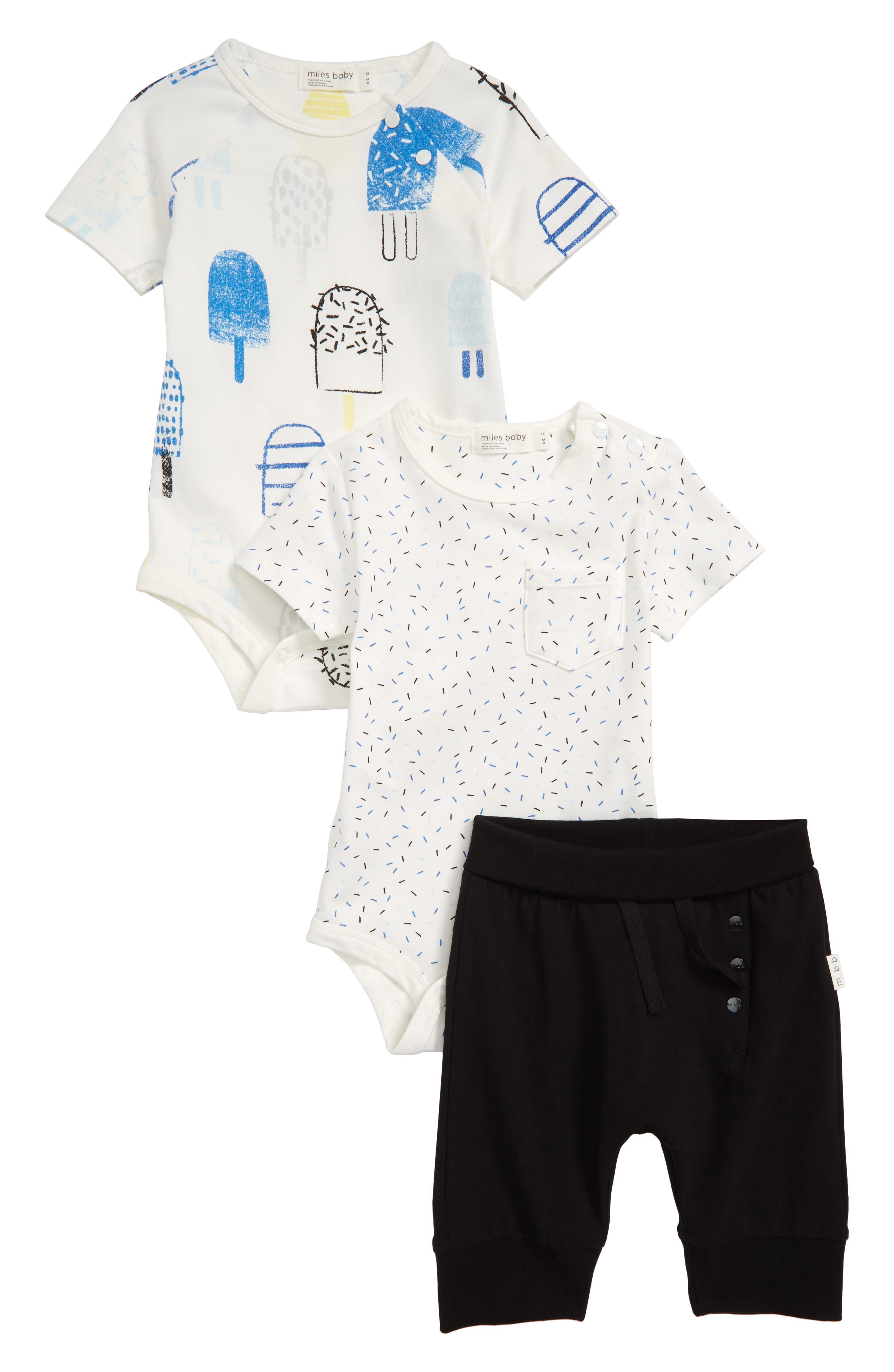 3-Piece Bodysuits & Pants Set,                         Main,                         color, 900