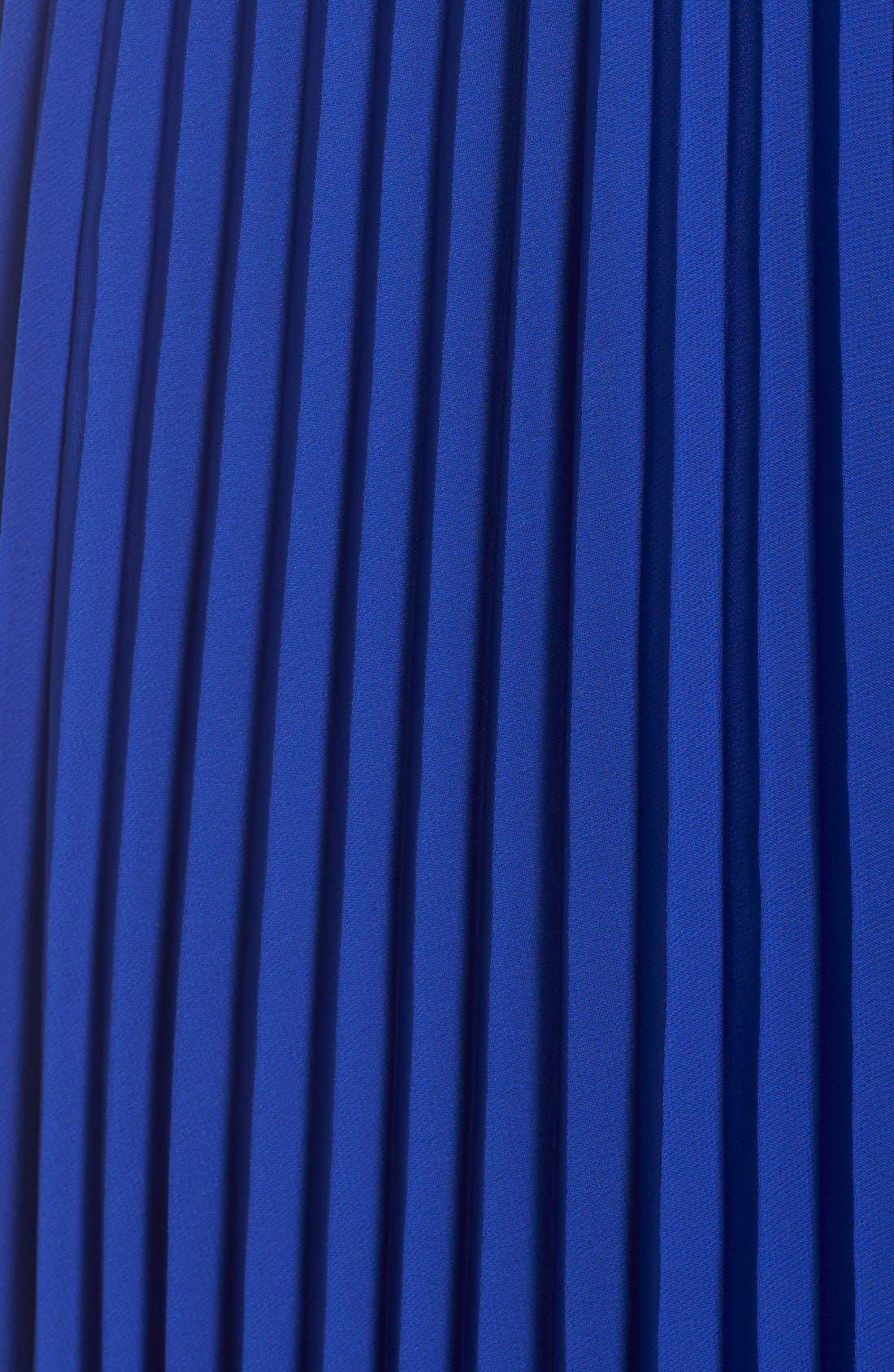 Pleated Chiffon Maxi Dress,                             Alternate thumbnail 5, color,                             430