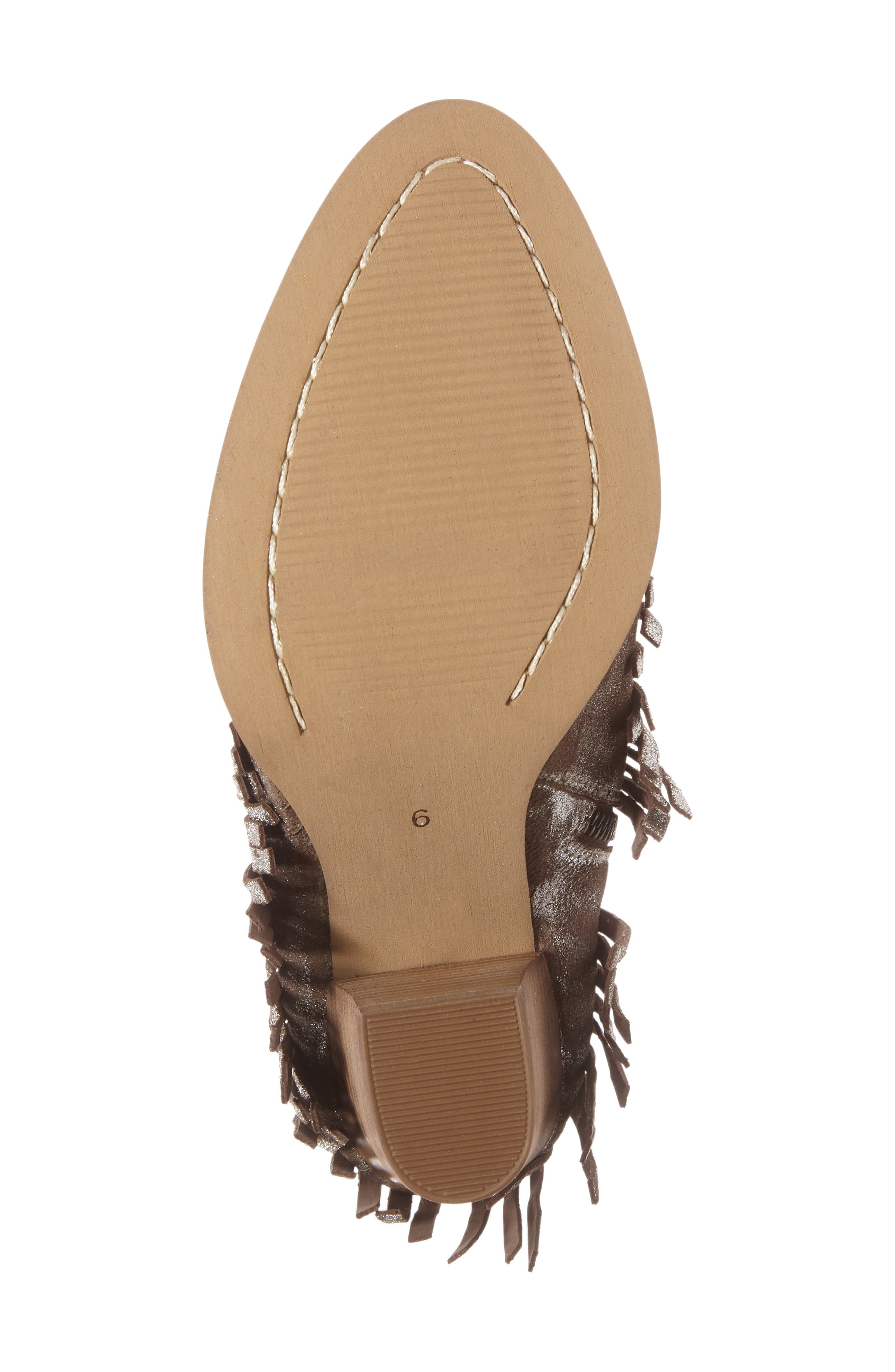 Unbridled Layla Fringed Bootie,                             Alternate thumbnail 4, color,                             040