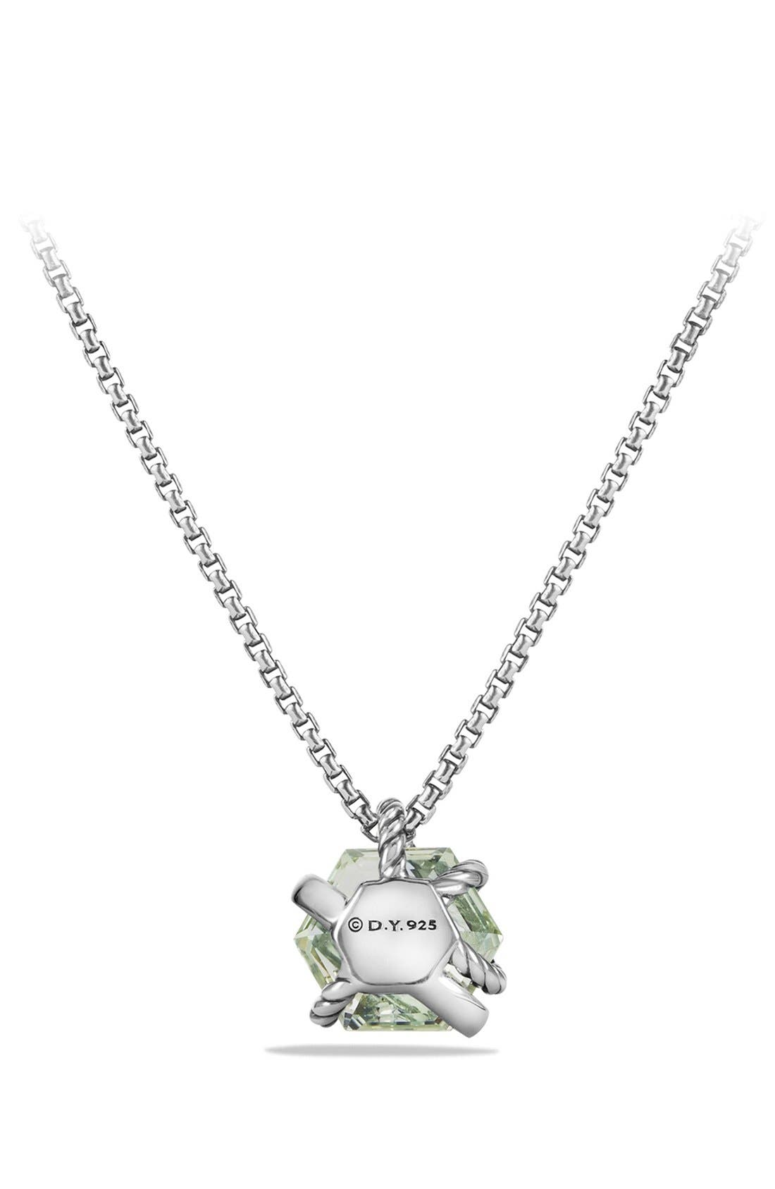 'Cable Wrap' Pendant Necklace with Diamonds,                             Alternate thumbnail 4, color,                             PRASIOLITE