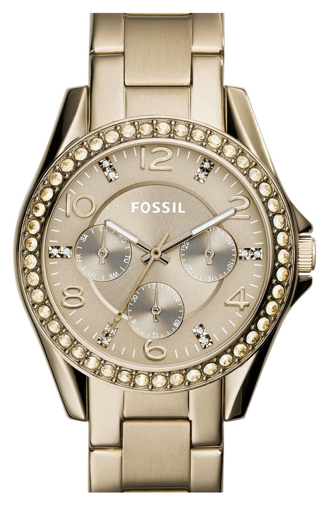 'Riley' Round Crystal Bezel Bracelet Watch, 38mm,                             Main thumbnail 12, color,