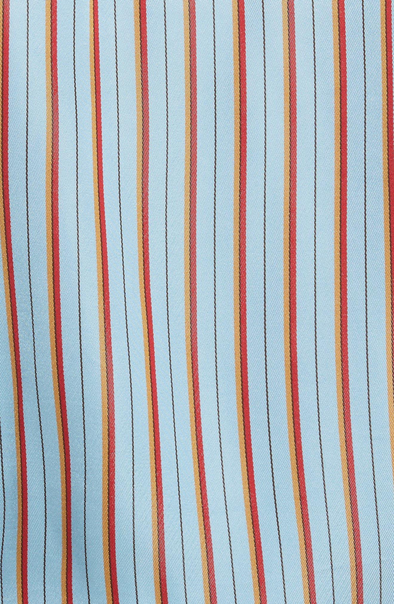 Diane von Furstenberg Stripe Wrap Top,                             Alternate thumbnail 5, color,                             477