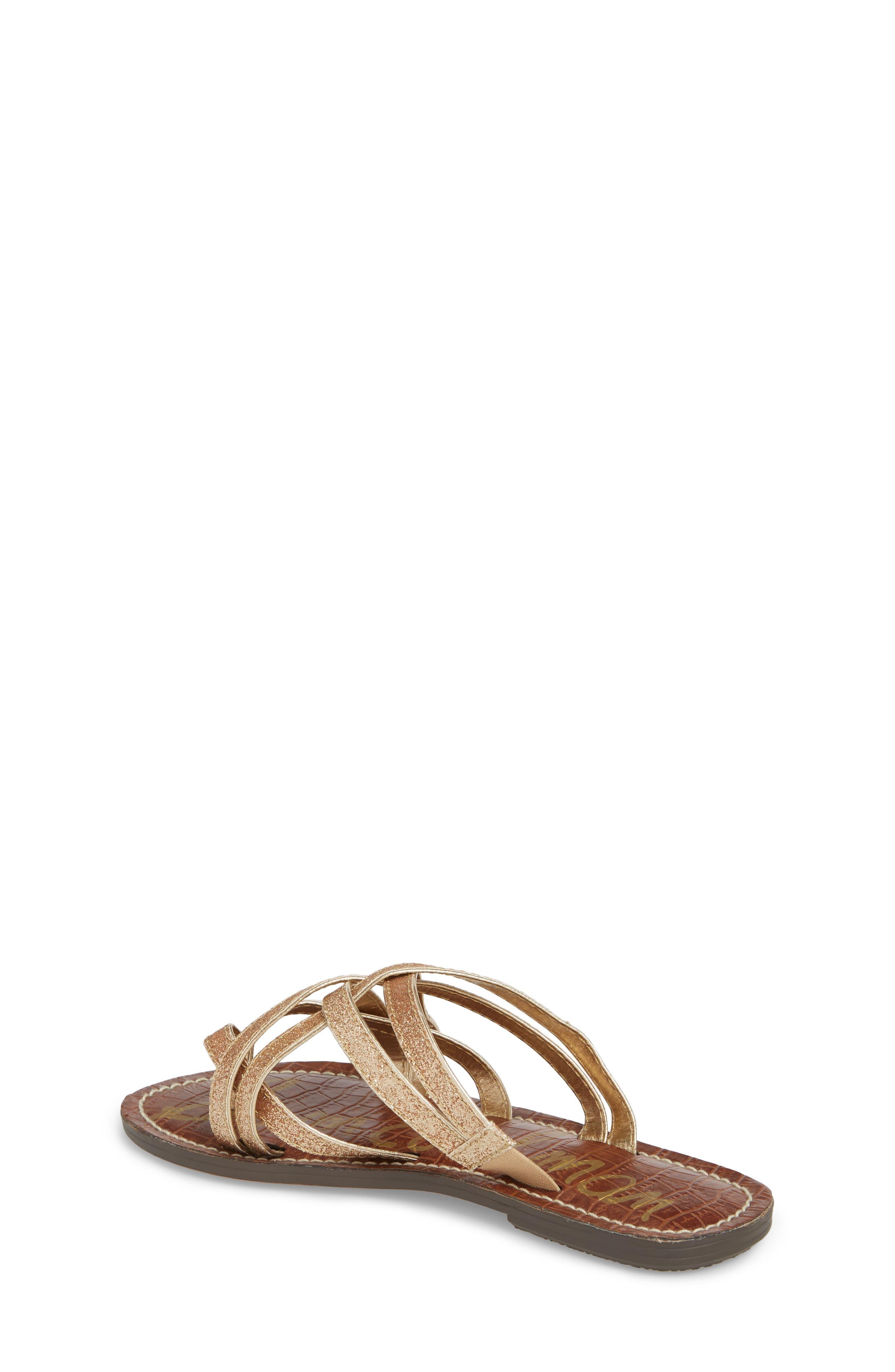 Georgette Glitter Flat Sandal,                             Alternate thumbnail 6, color,