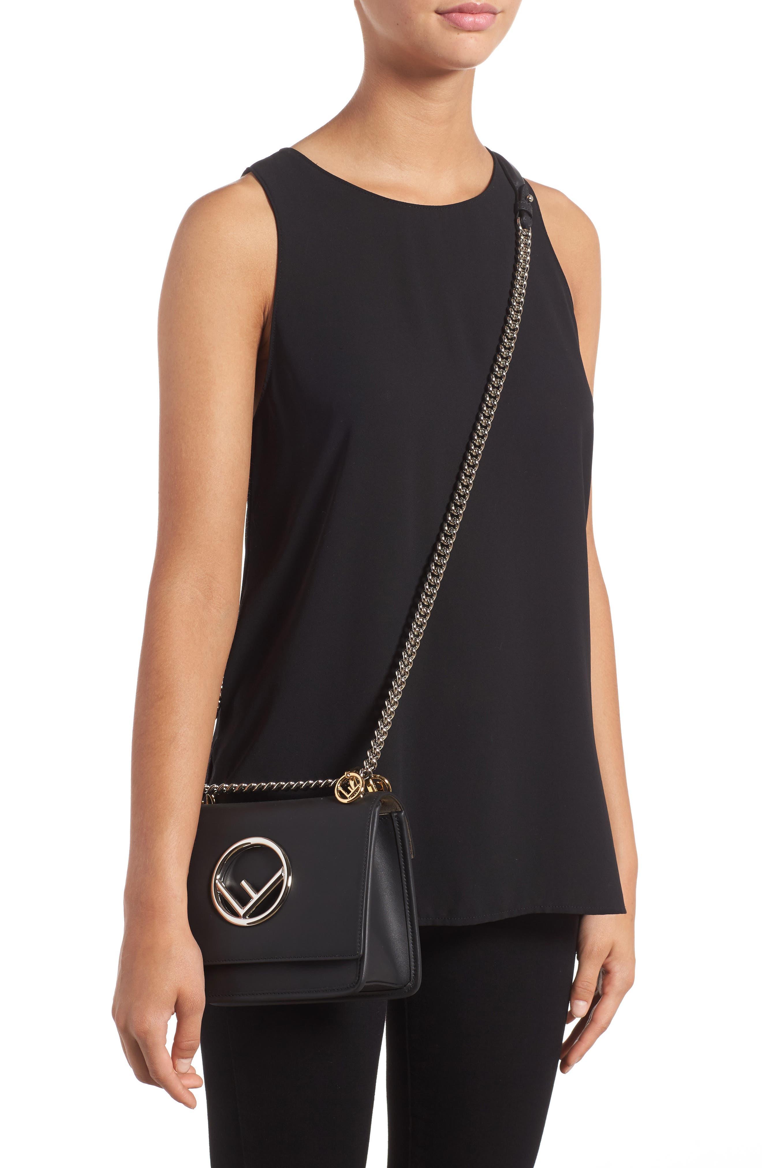 Kan I Calfskin Leather Shoulder Bag,                             Alternate thumbnail 2, color,                             004