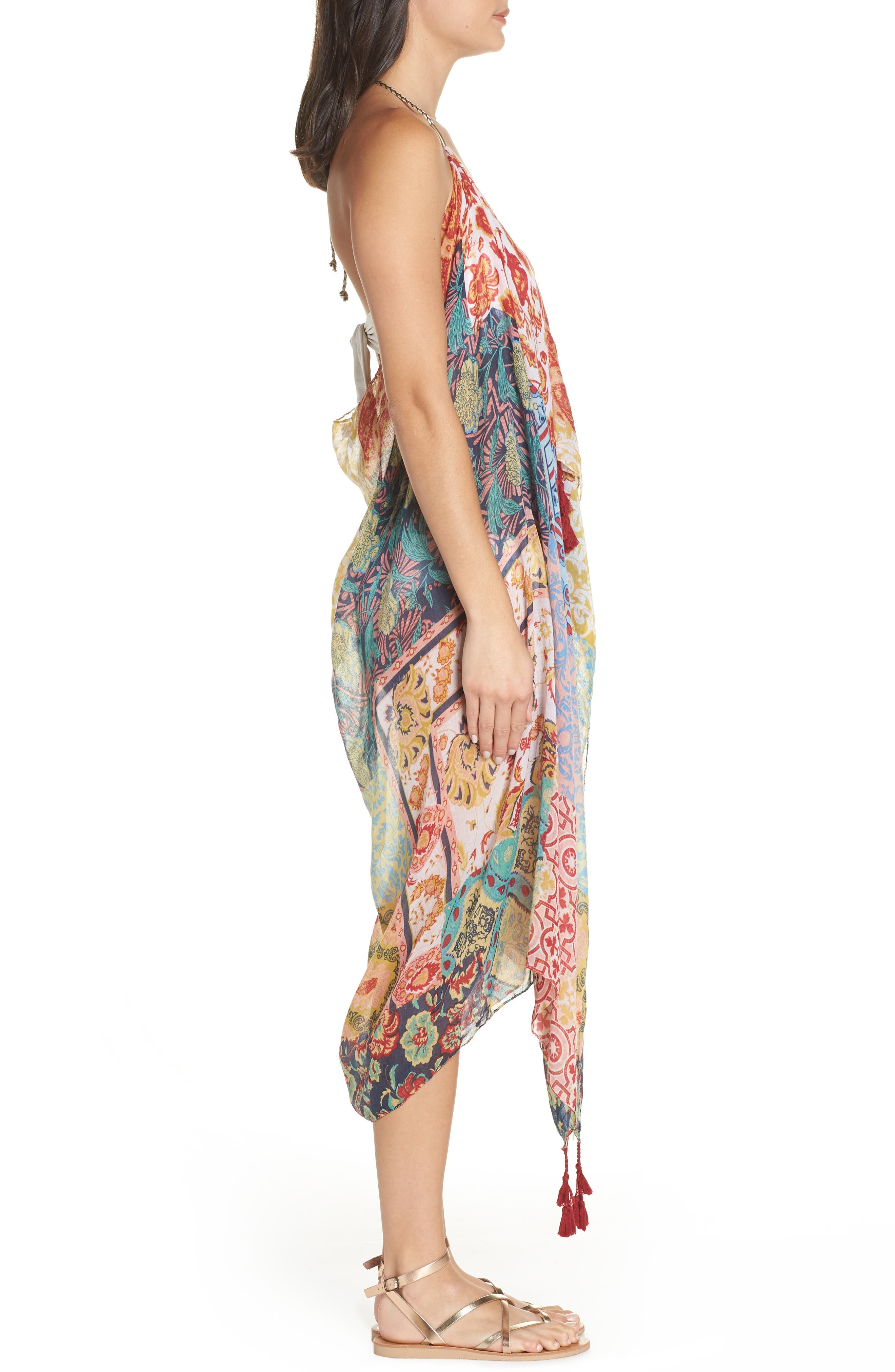 Beach to Street Cover-Up Dress,                             Alternate thumbnail 3, color,                             MULTI