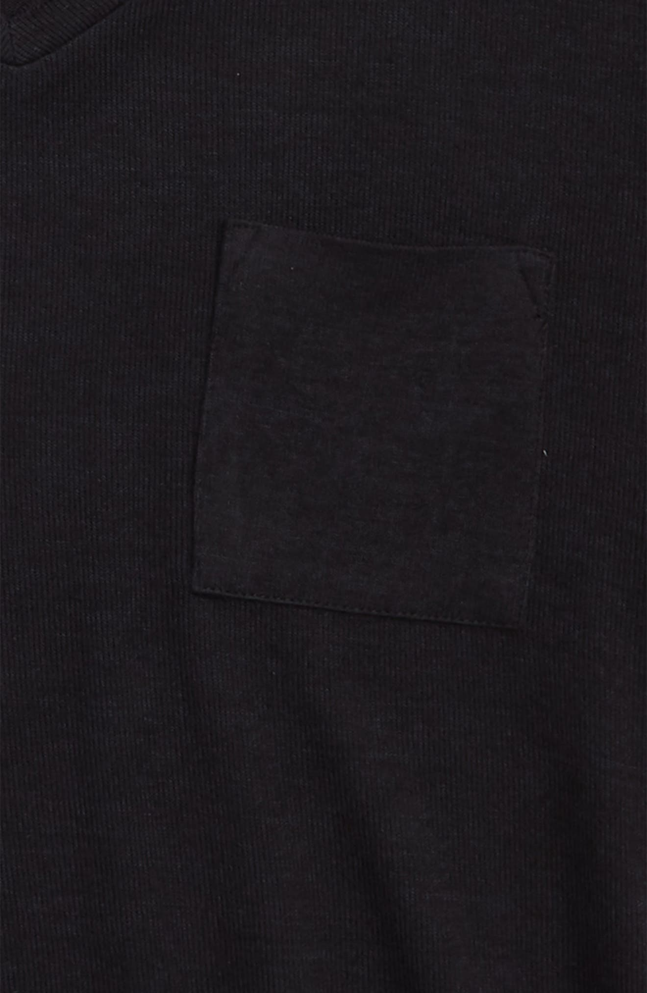Oversized Pocket Tee,                             Alternate thumbnail 2, color,                             BLACK ROCK