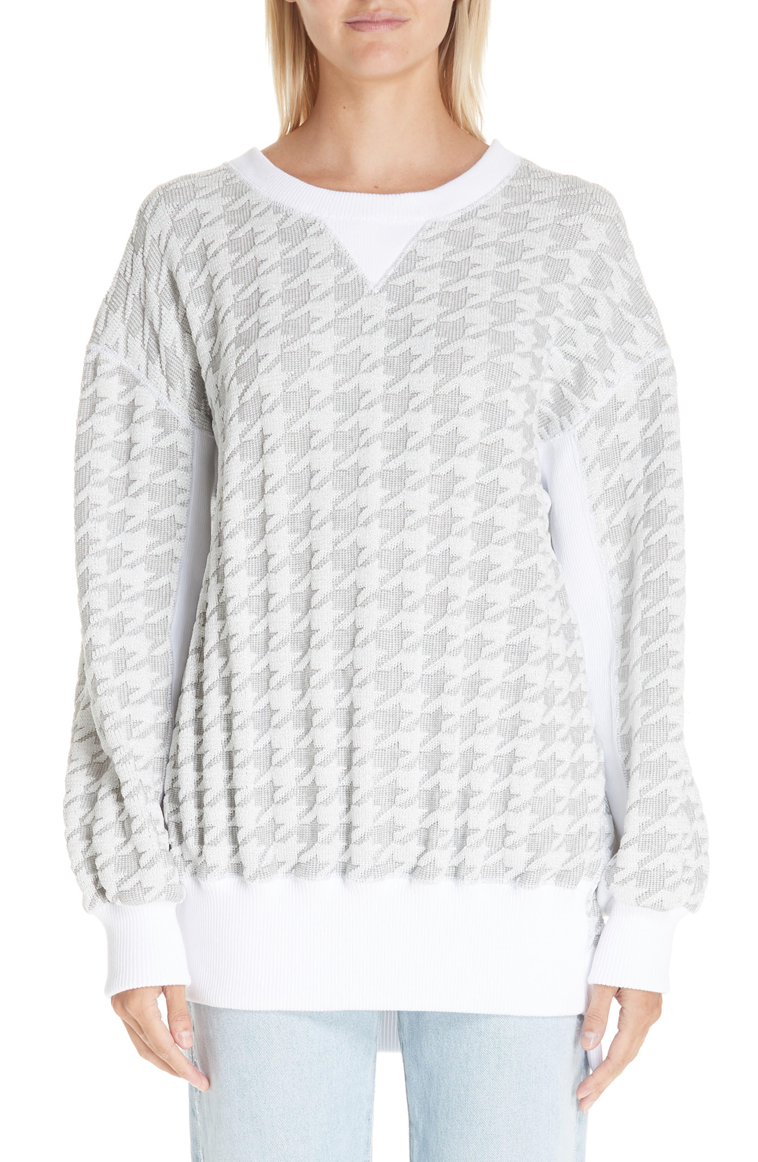 Houndstooth Sweatshirt,                         Main,                         color, 100