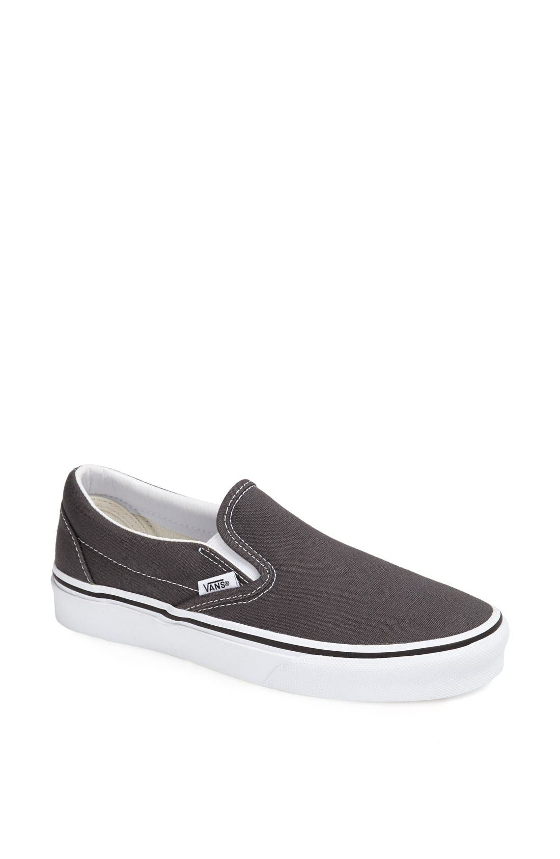 'Classic' Slip-On,                         Main,                         color, CHARCOAL