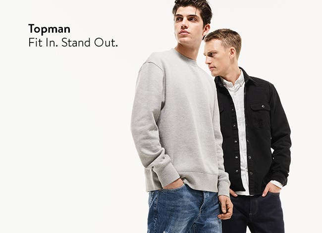 Topman clothing for men: fit in, stand out.