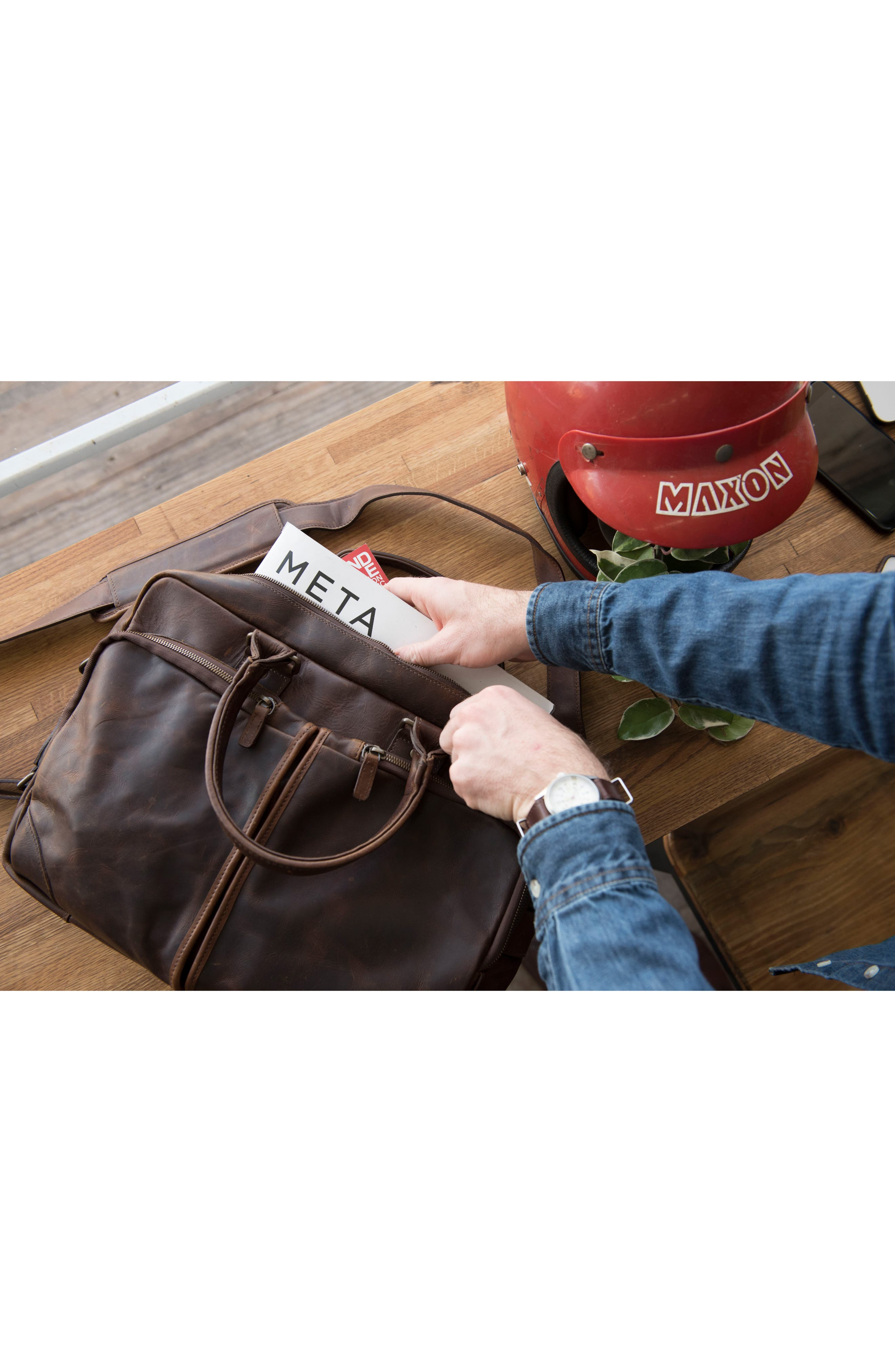 Haythe Leather Briefcase,                             Alternate thumbnail 7, color,