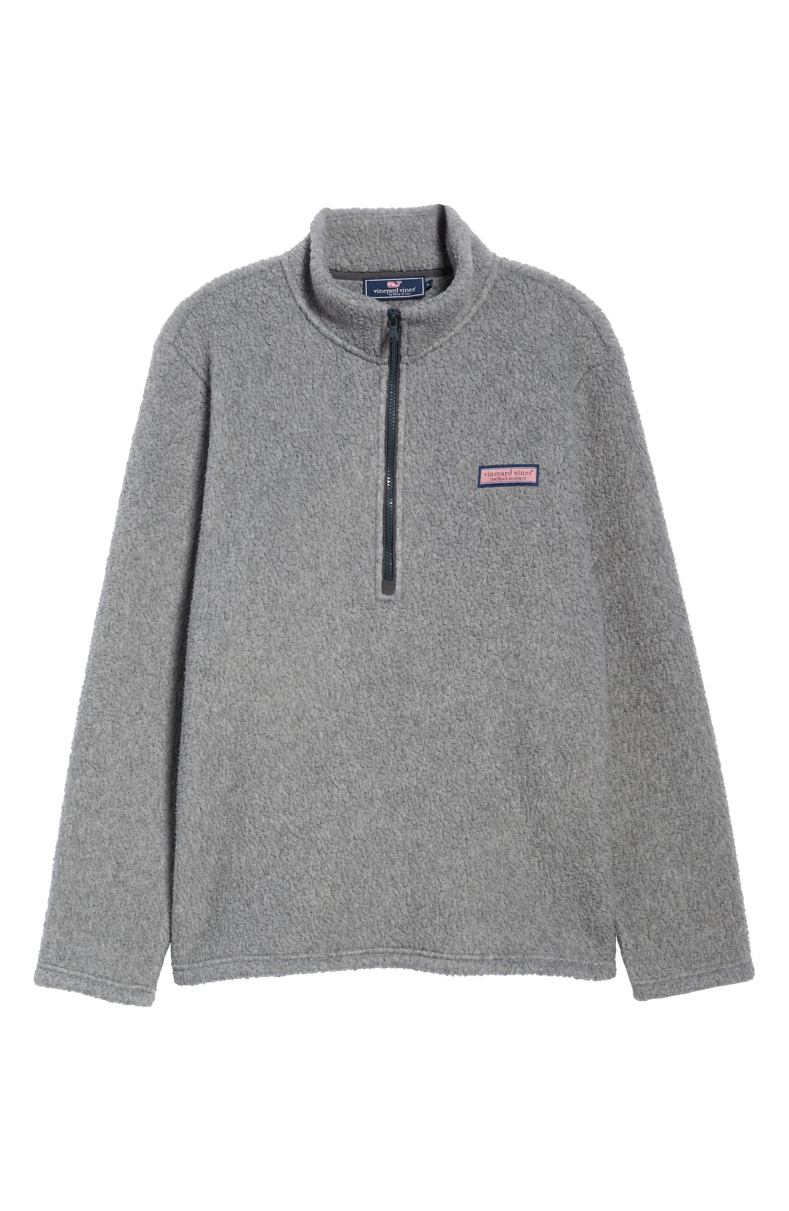 Fleece Quarter Zip Pullover,                             Alternate thumbnail 6, color,                             020
