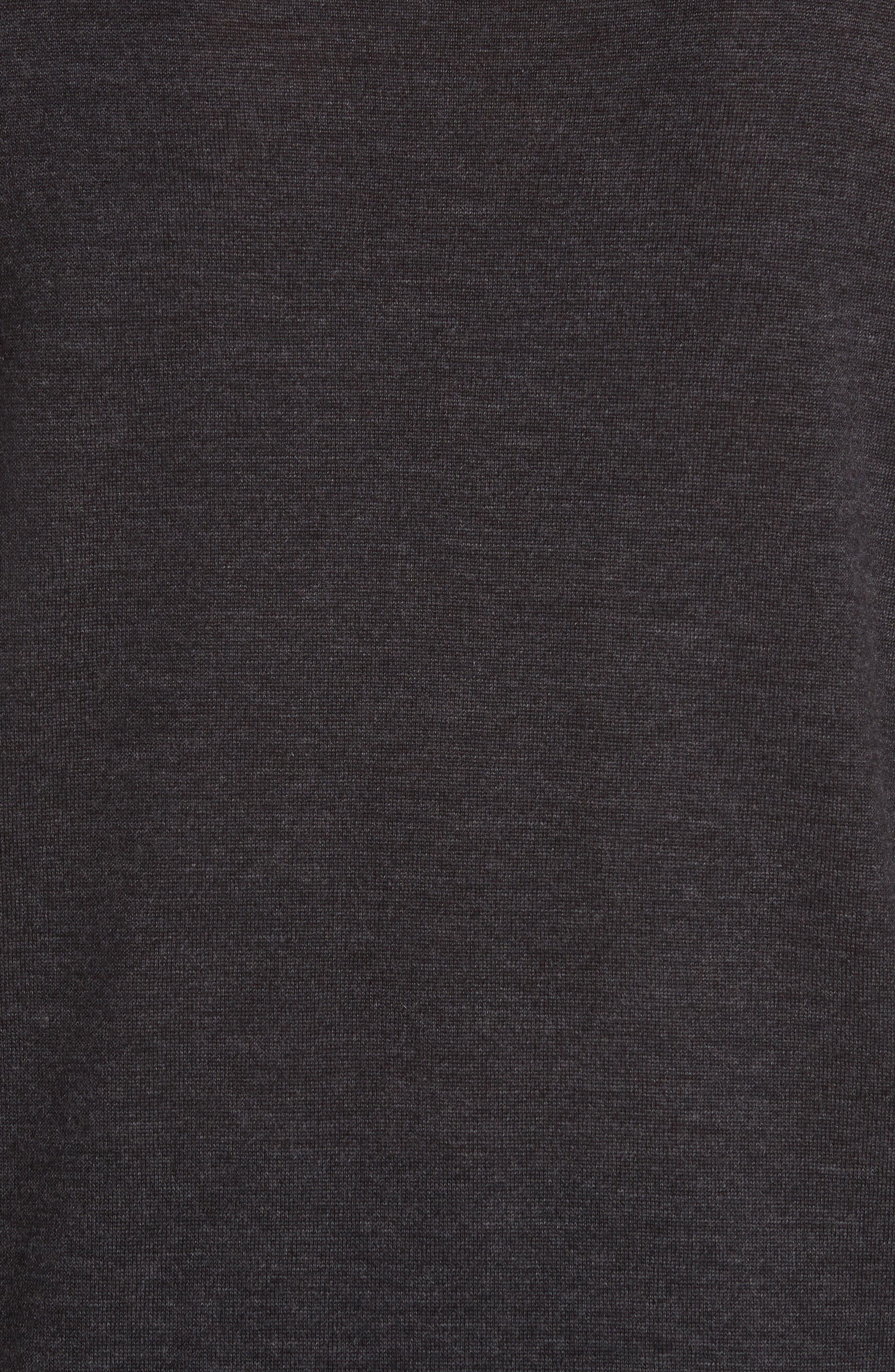 Merino Wool Cold Shoulder Turtleneck Sweater,                             Alternate thumbnail 5, color,